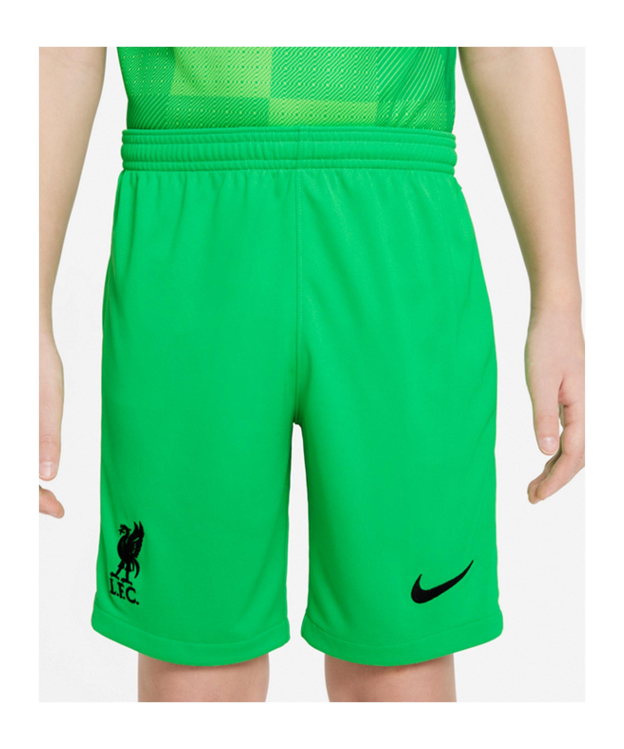 Nike FC Liverpool Torwartshort 2021/2022 Kids F329 - gruen