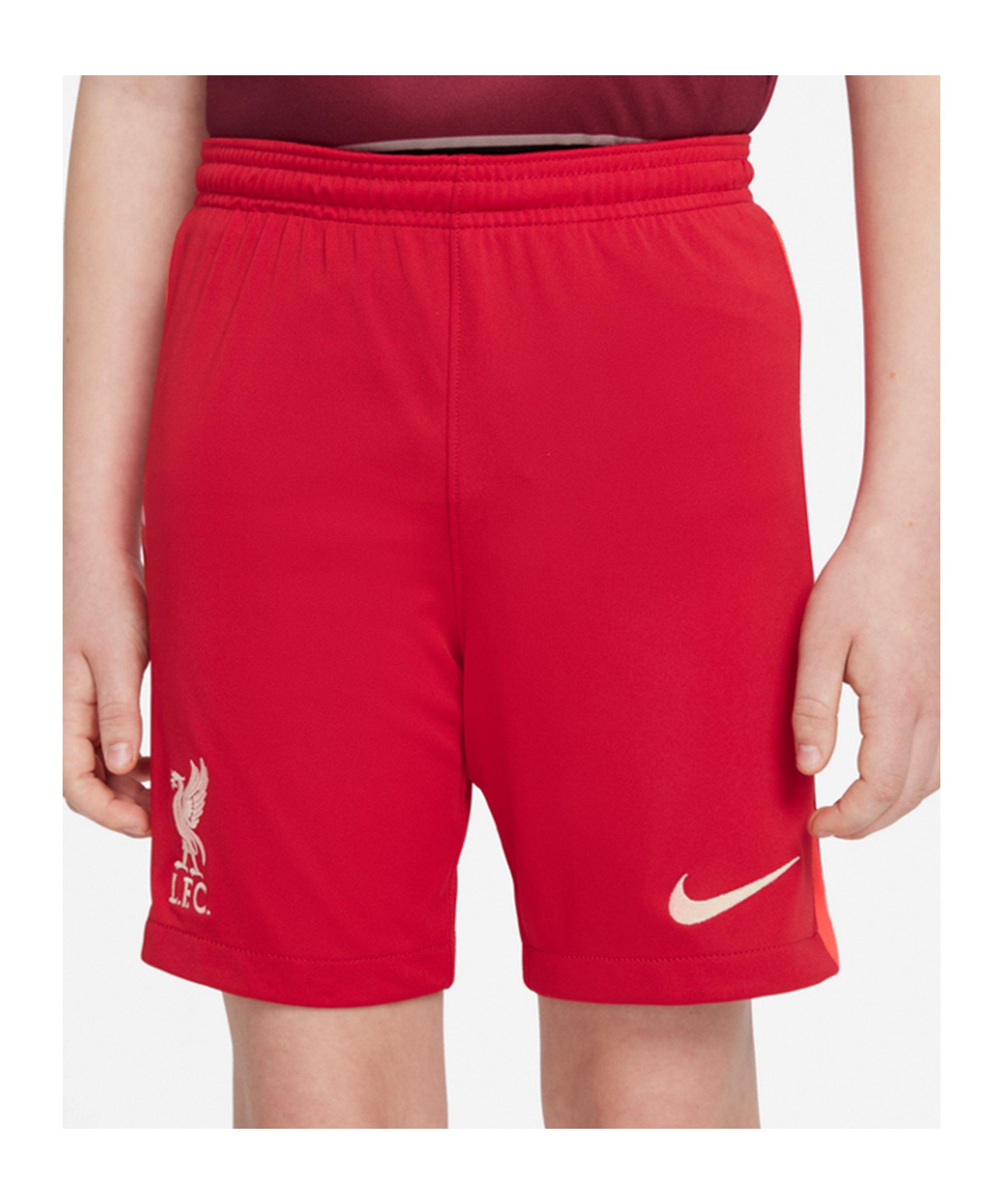 Nike FC Liverpool Short Home 2021/2022 Kids F687 - rot