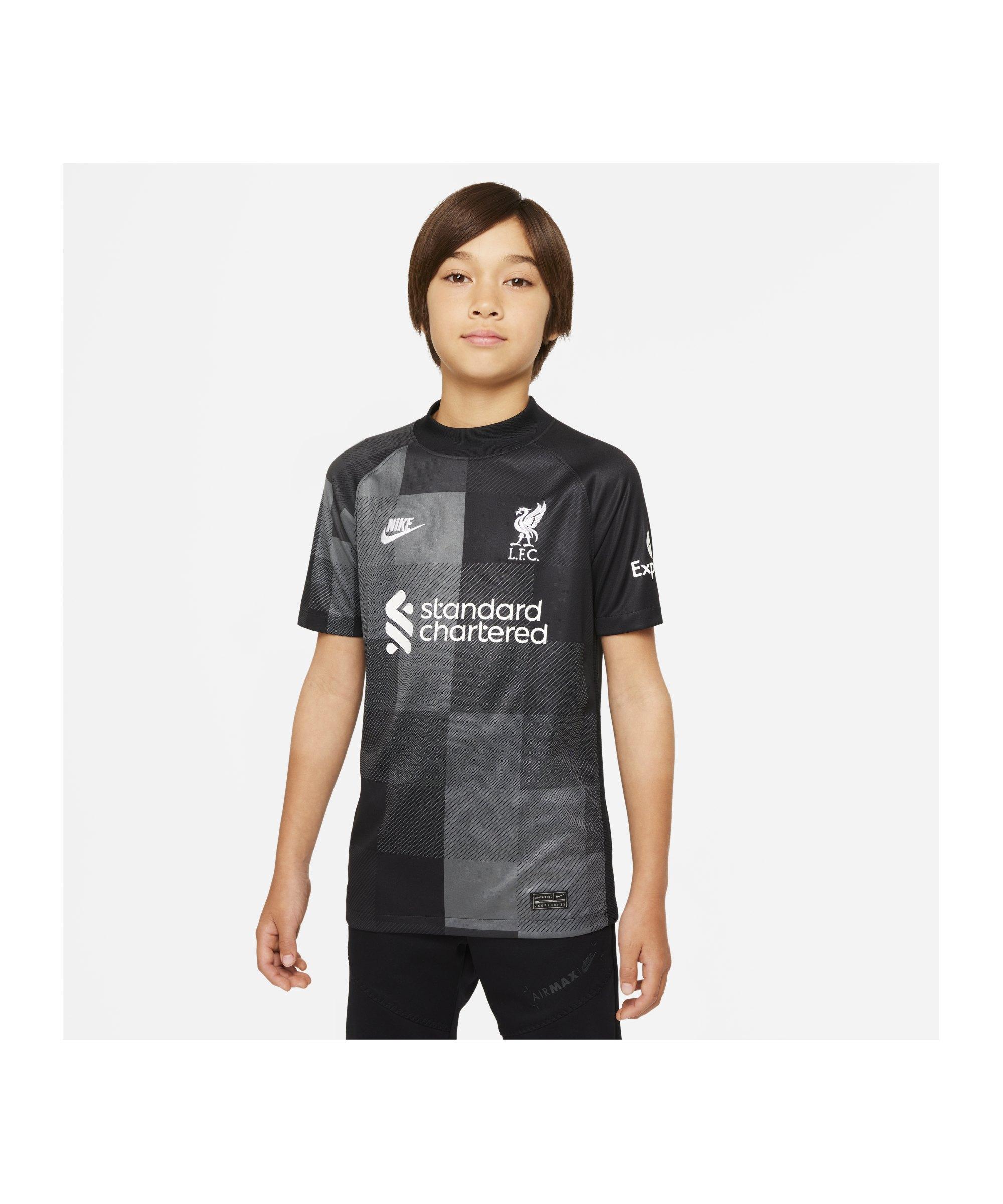Nike FC Liverpool Torwart-Trikot 2021/2022 Kids F011 - schwarz