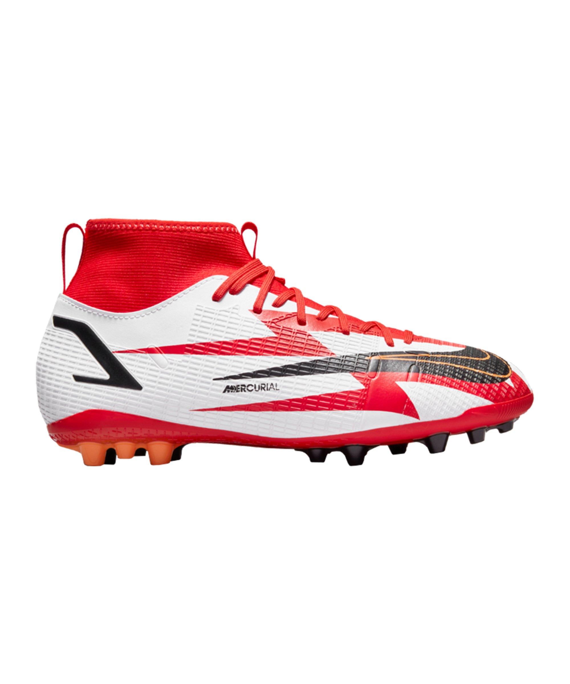 Nike Jr Mercurial Superfly VIII Academy CR7 Spark Positivity AG Kids Rot F600 - rot
