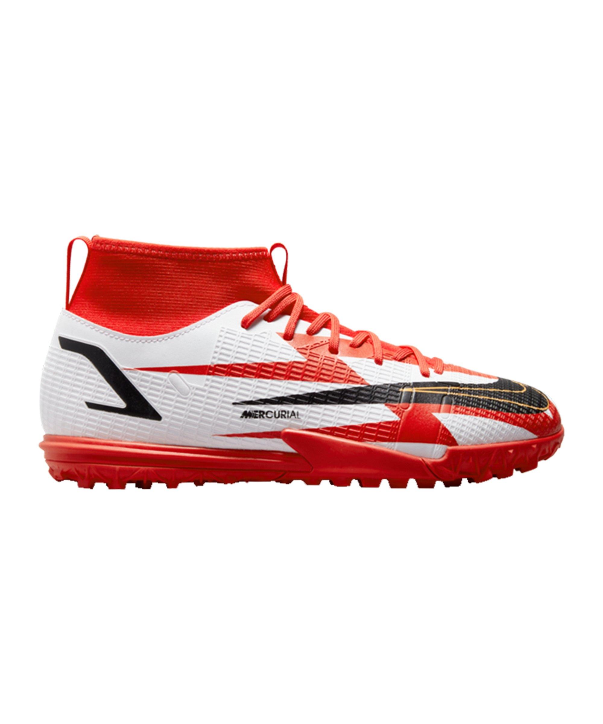 Nike Jr Mercurial Superfly VIII Academy CR7 Spark Positivity TF Kids Rot F600 - rot