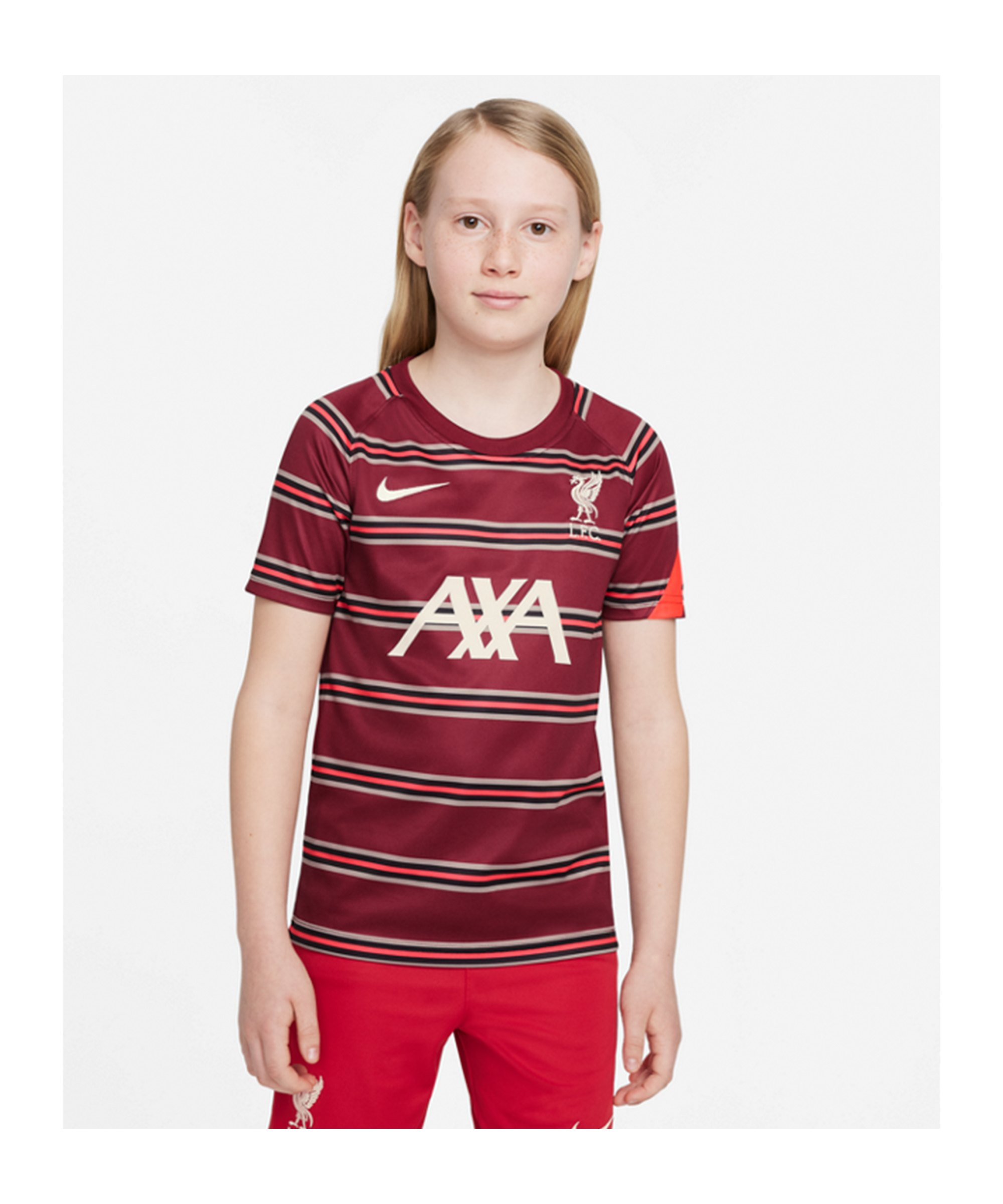 Nike FC Liverpool Prematch Shirt 2021/2022 Kids F614 - rot