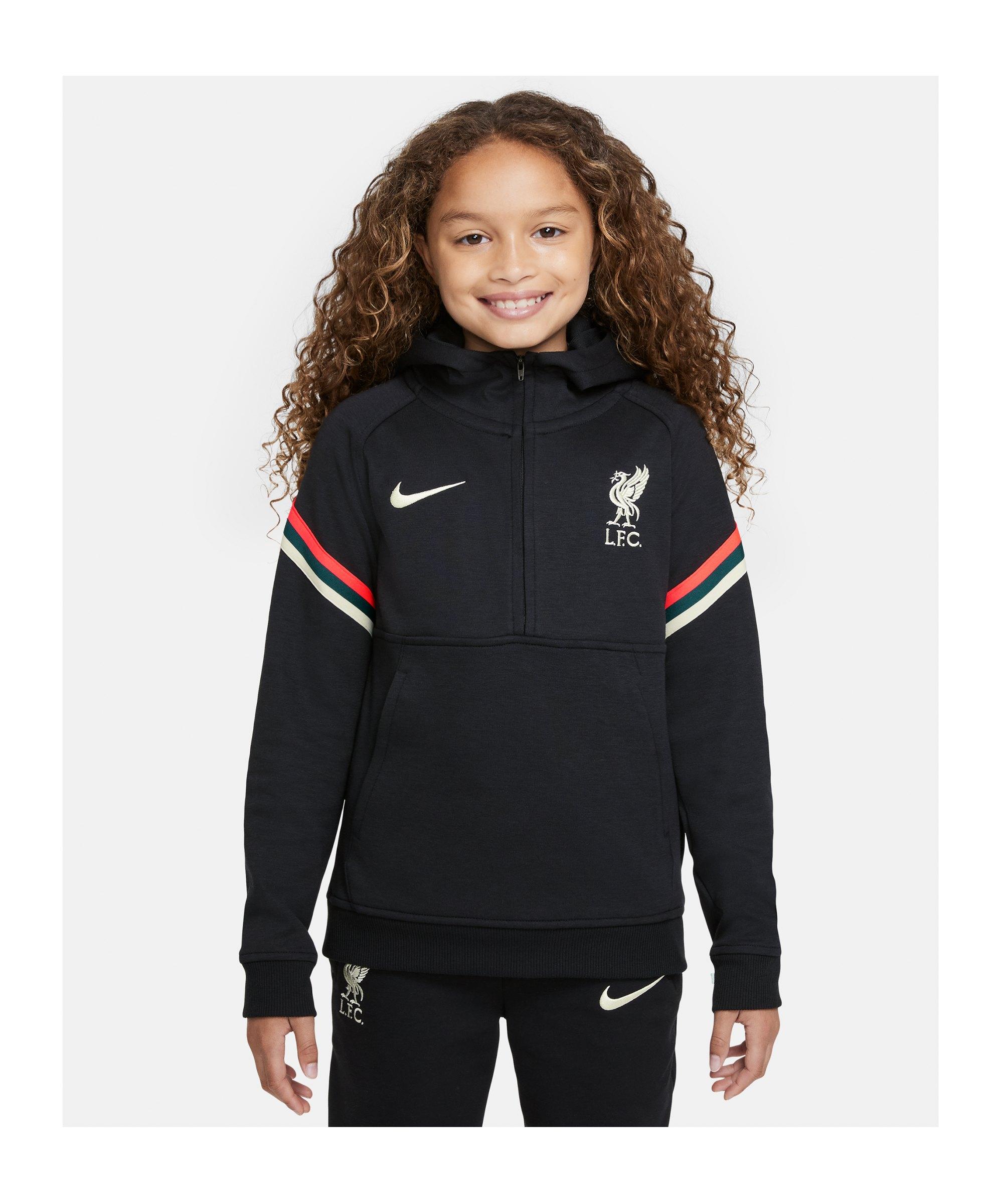 Nike FC Liverpool HalfZip Sweatshirt Kids Schwarz F010 - schwarz