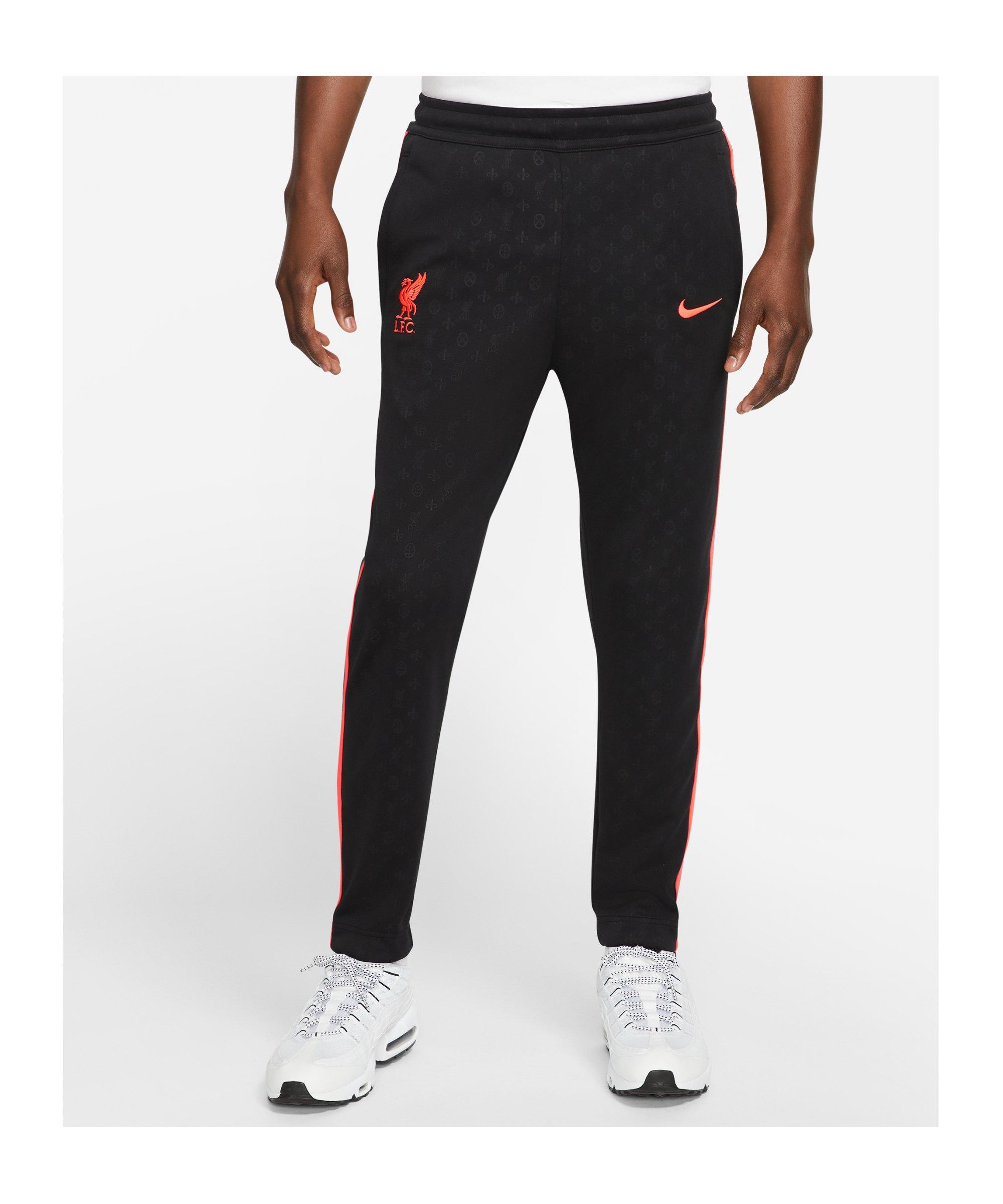 Nike FC Liverpool Trainingshose Schwarz F010 - schwarz