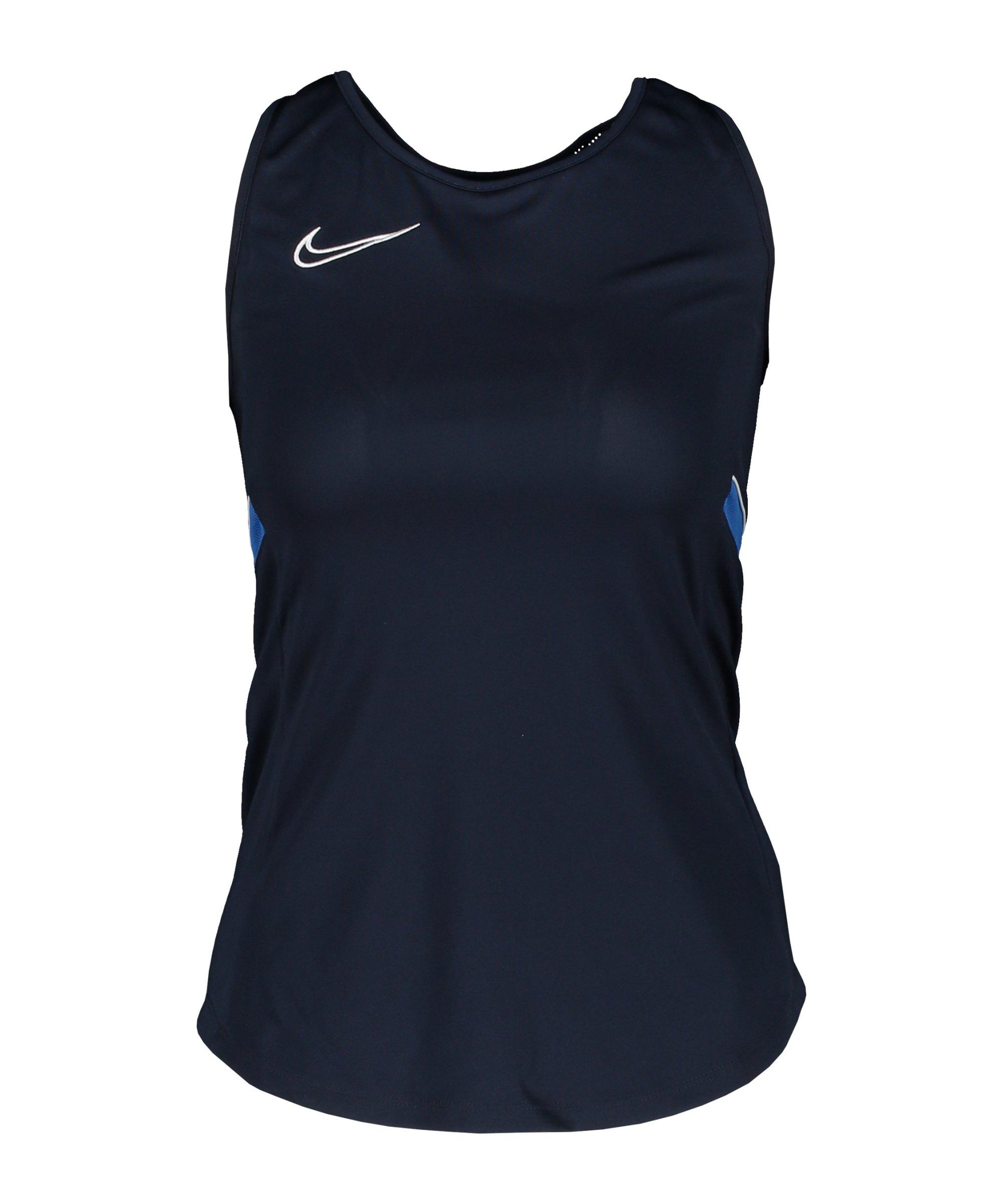 Nike Academy 21 Tanktop Damen Blau Weiss F453 - blau