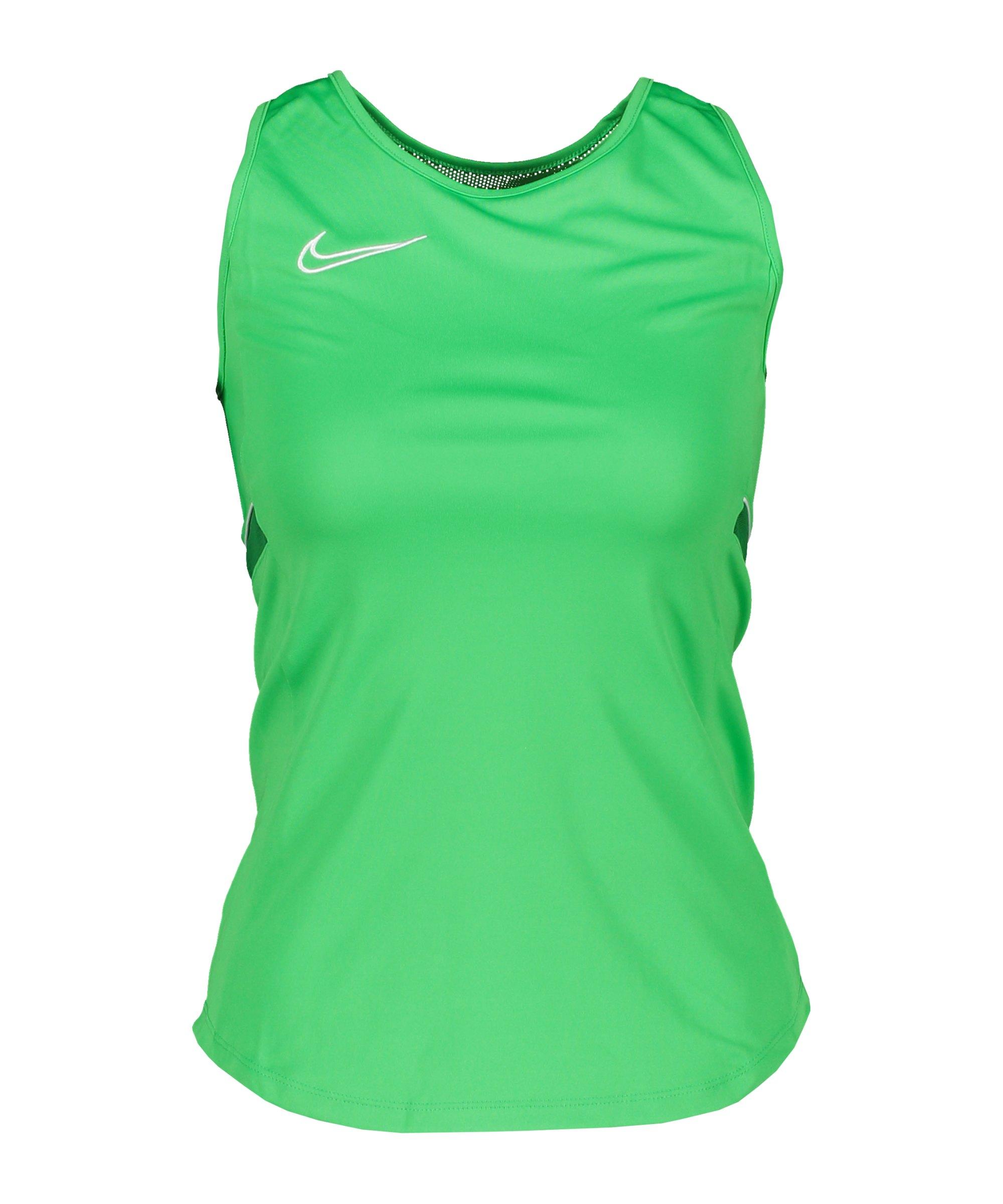 Nike Academy 21 Tanktop Damen Grün Weiss F362 - gruen