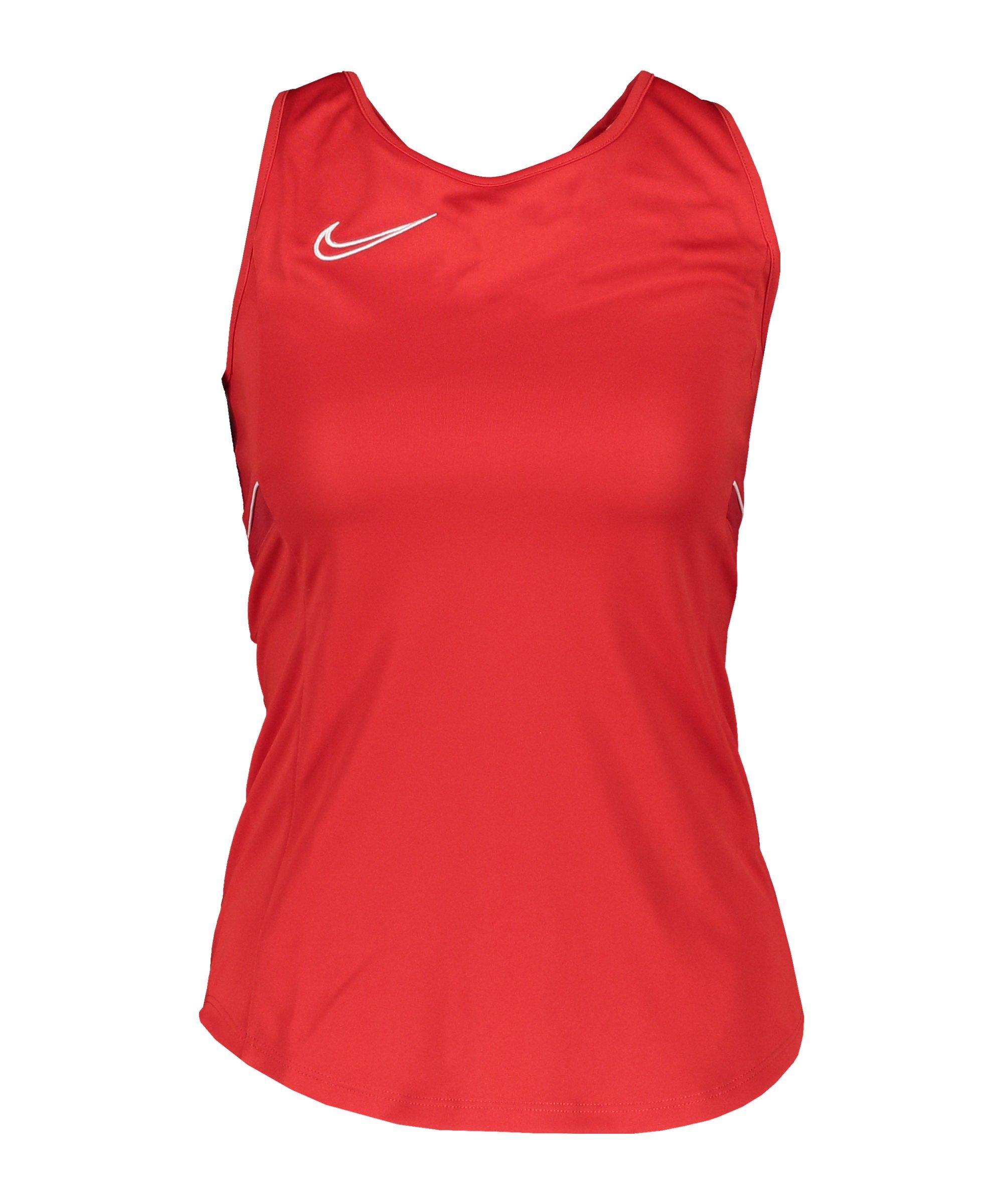 Nike Academy 21 Tanktop Damen Rot Weiss F657 - rot