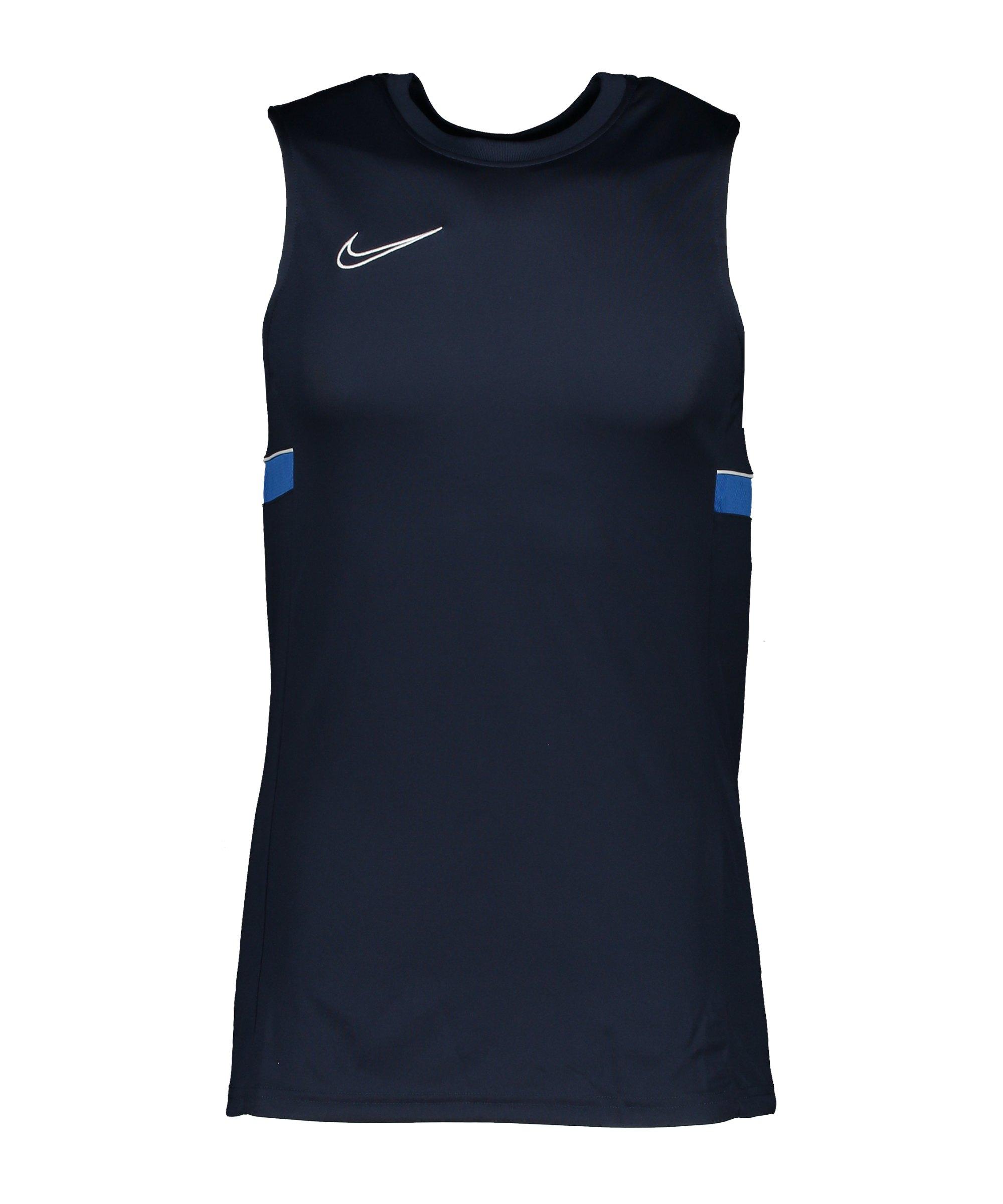 Nike Academy 21 Tanktop Kids Blau Weiss F453 - blau