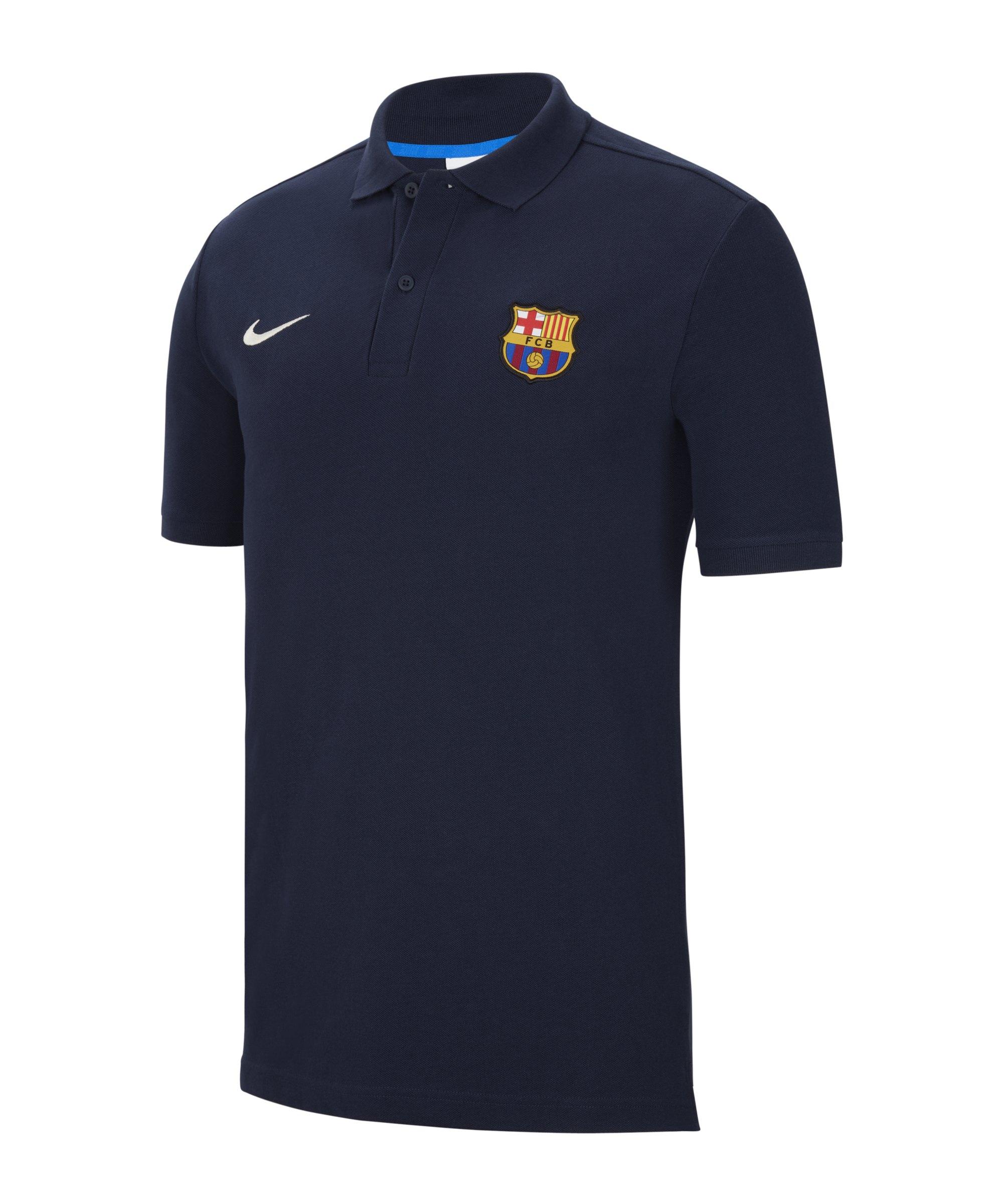 Nike FC Barcelona Poloshirt Blau F451 - blau