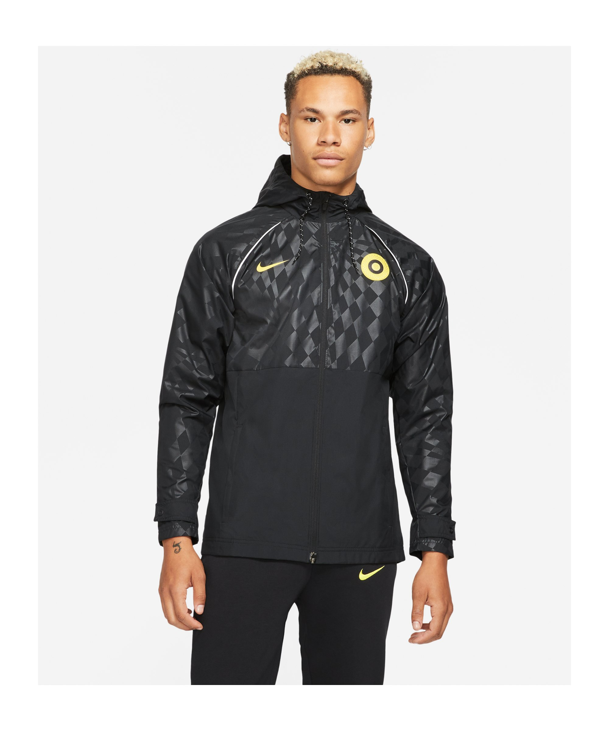 Nike FC Chelsea London Trainingsjacke Schwarz F010 - schwarz