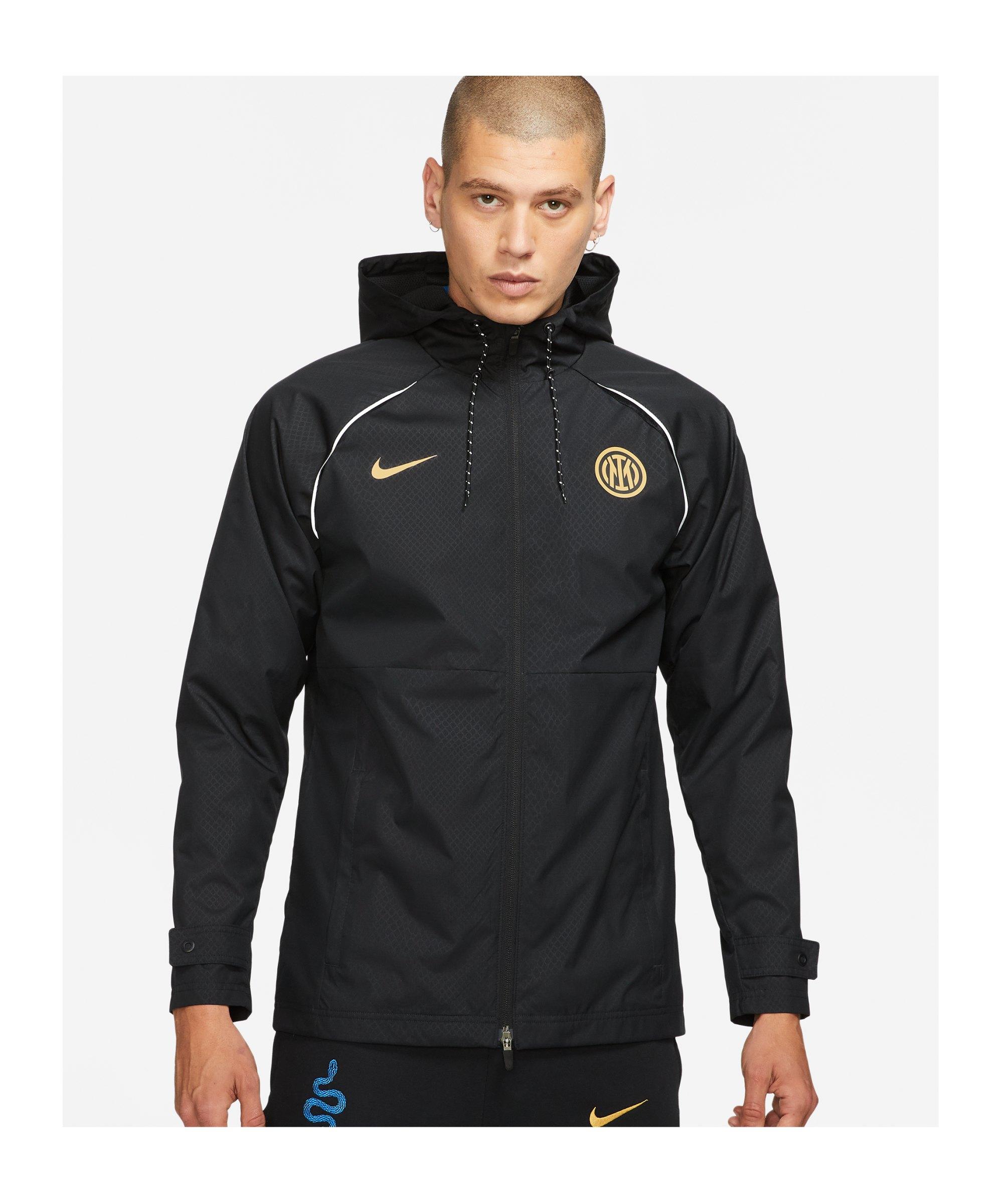 Nike Inter Mailand GX Allwetterjacke Schwarz F010 - schwarz