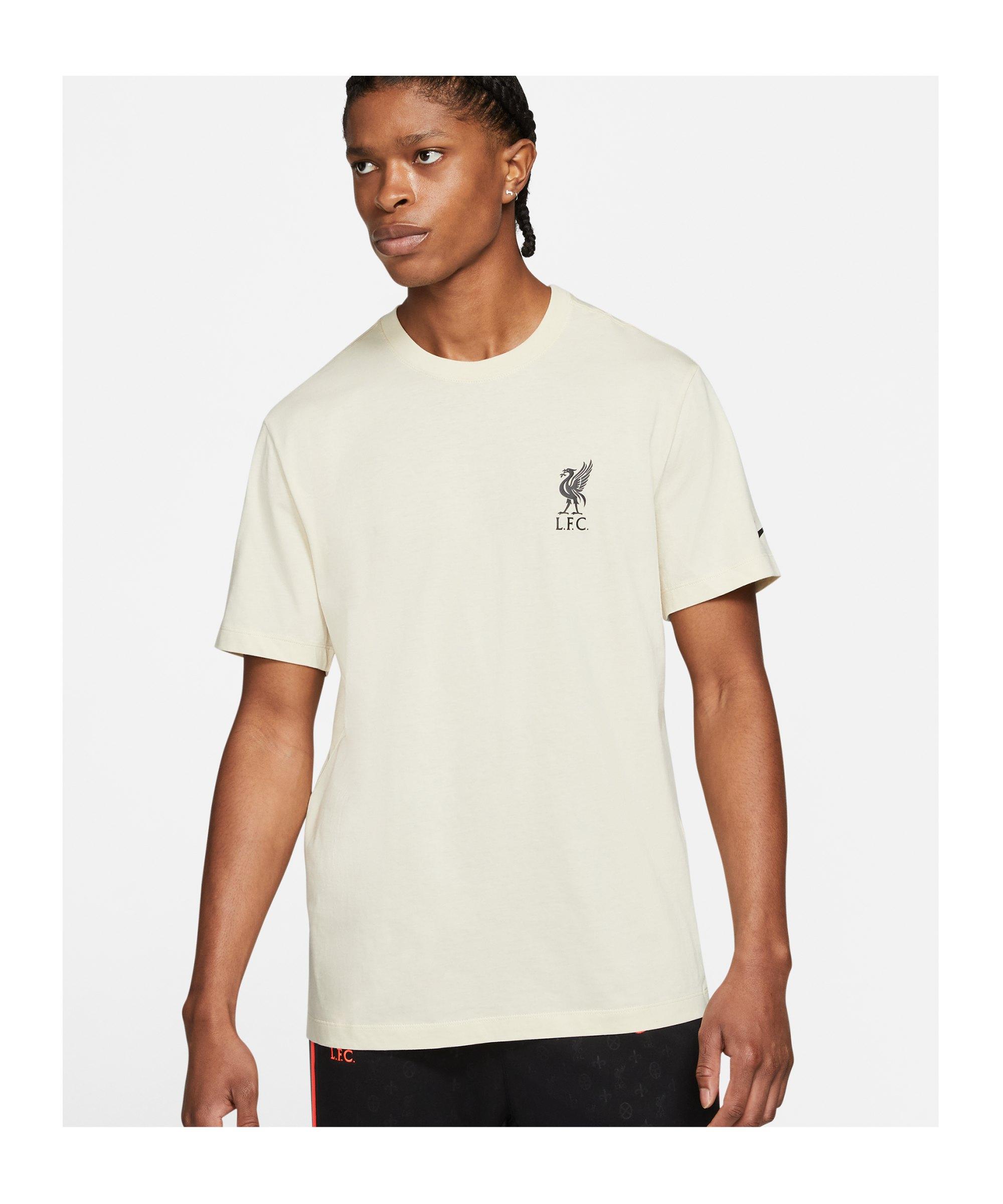 Nike FC Liverpool Travel T-Shirt Beige F238 - beige