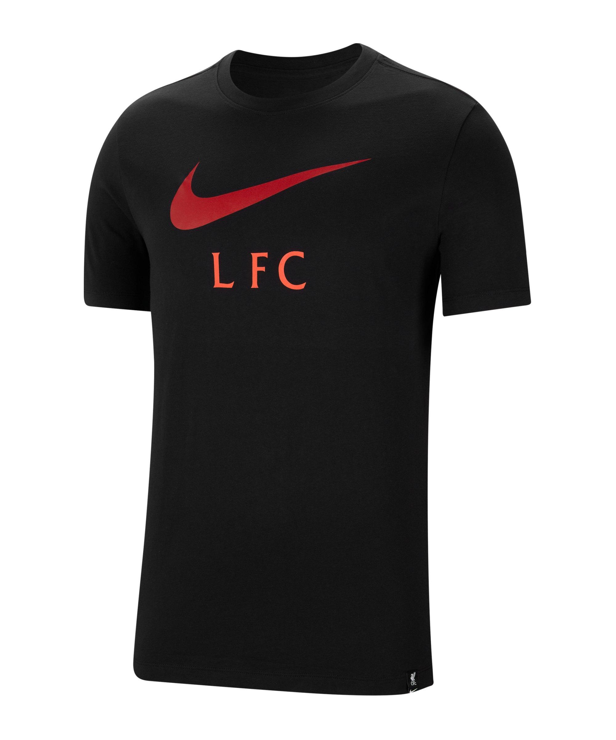 Nike FC Liverpool Swoosh Club T-Shirt F010 - schwarz