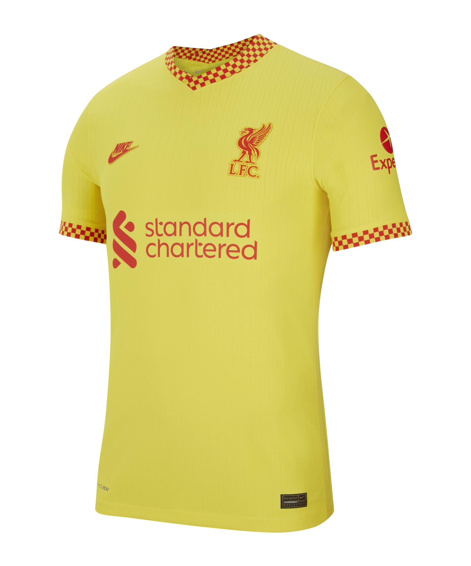 Nike FC Liverpool Auth. Trikot UCL 2021/2022 F704 - gelb