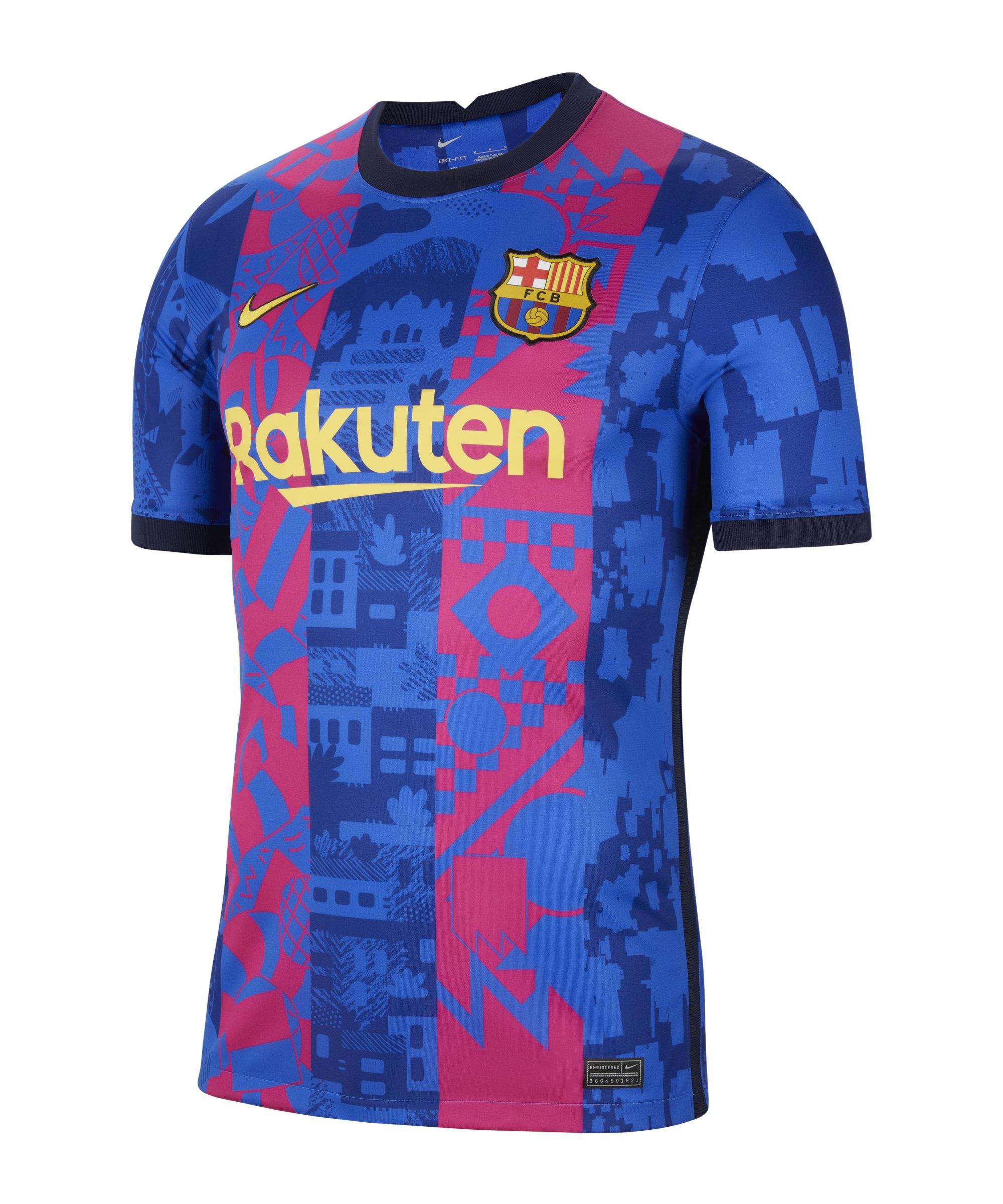 Nike FC Barcelona Trikot UCL 2021/2022 Blau F406 - blau