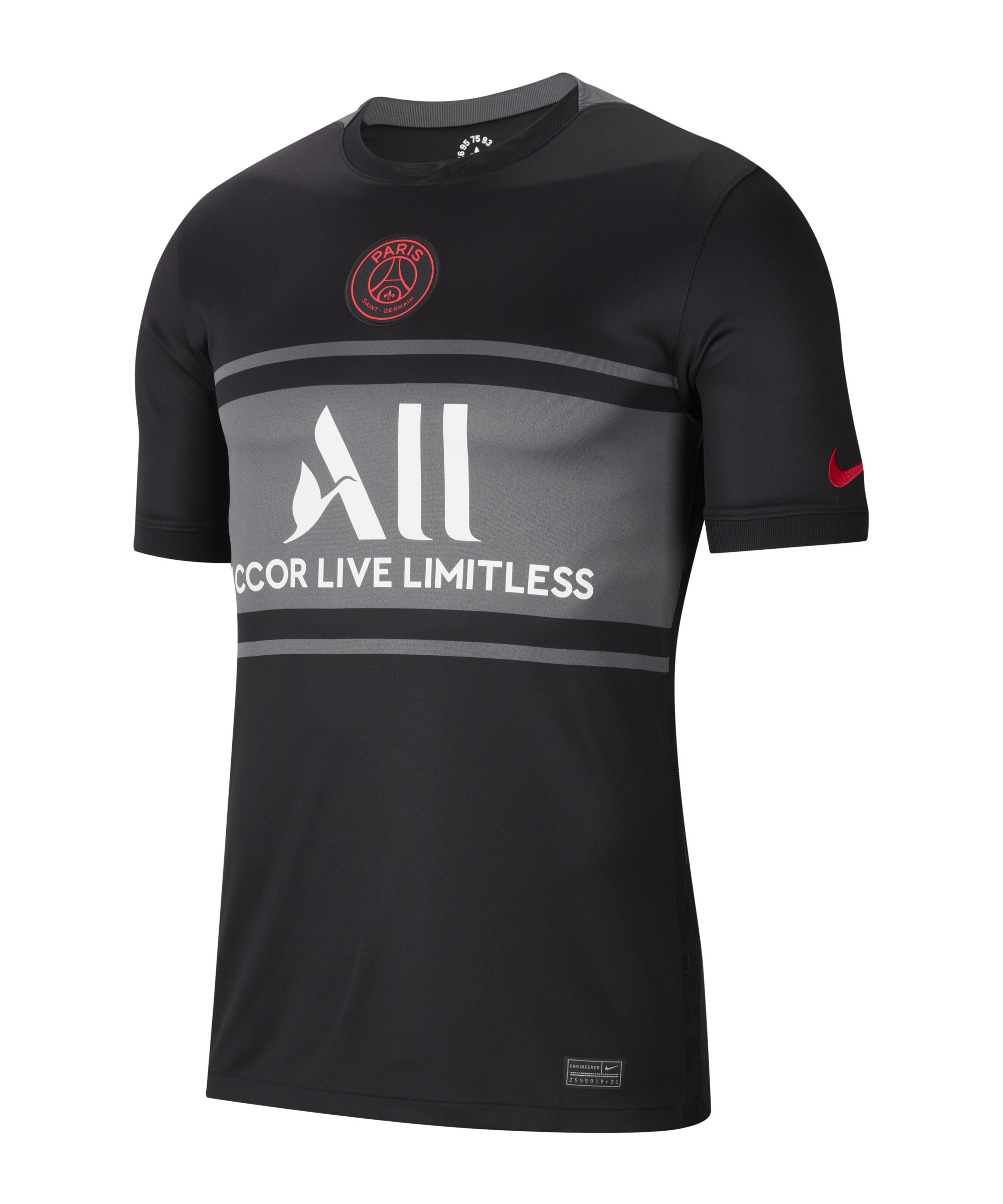 Nike Paris St. Germain Trikot UCL 2021/2022 F011 Schwarz - schwarz
