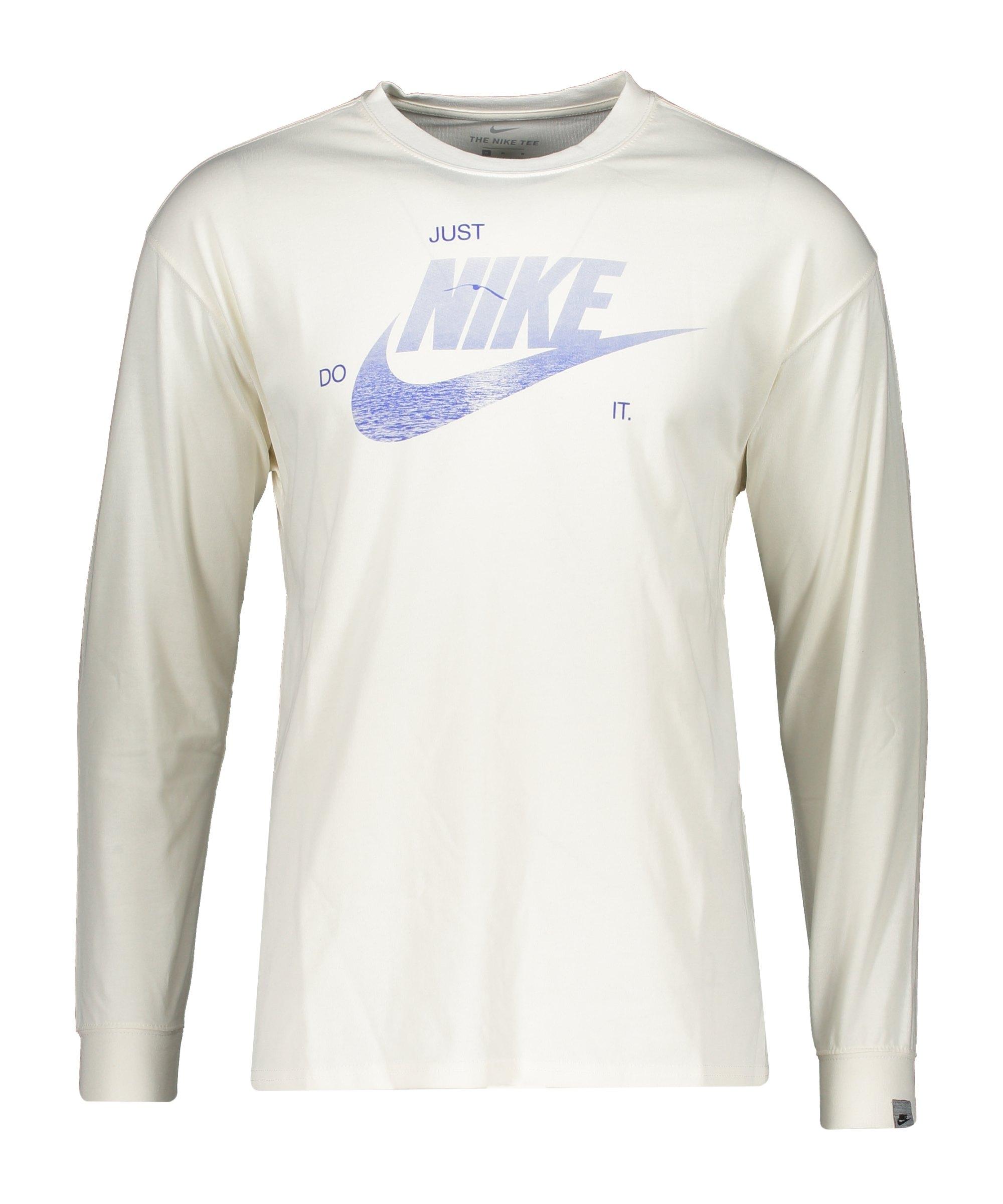 Nike Graphic Sweatshirt Weiss Blau F901 - weiss