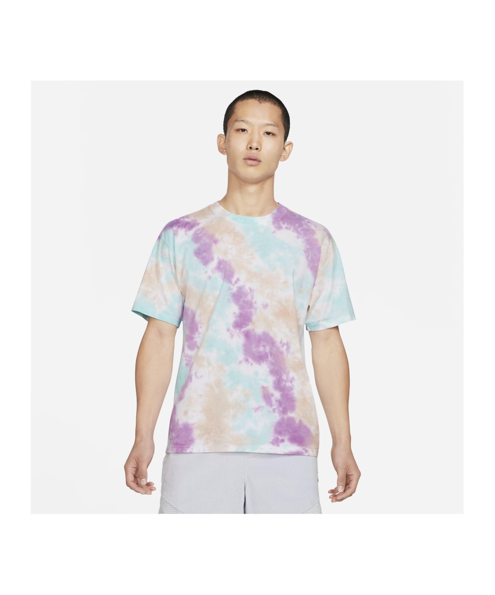 Nike Max 90 Wild Tie Dye T-Shirt Weiss Grau F100 - weiss