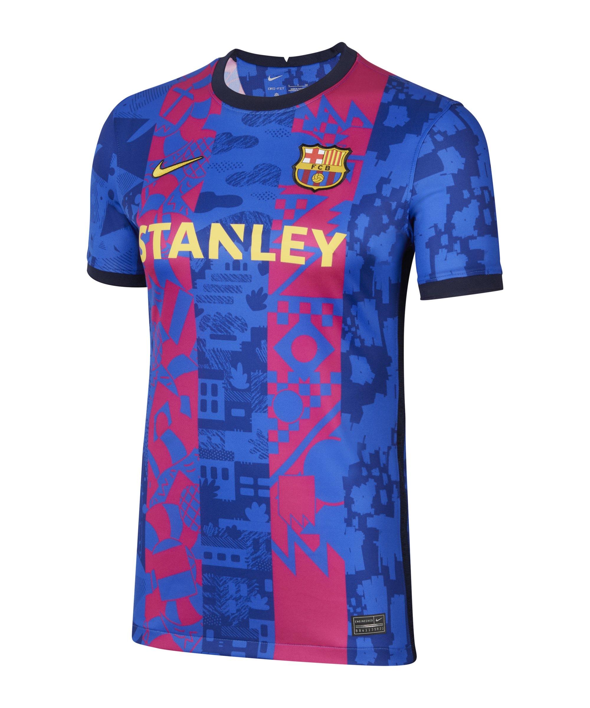 Nike FC Barcelona Trikot UCL 2021/2022 Damen F405 - blau