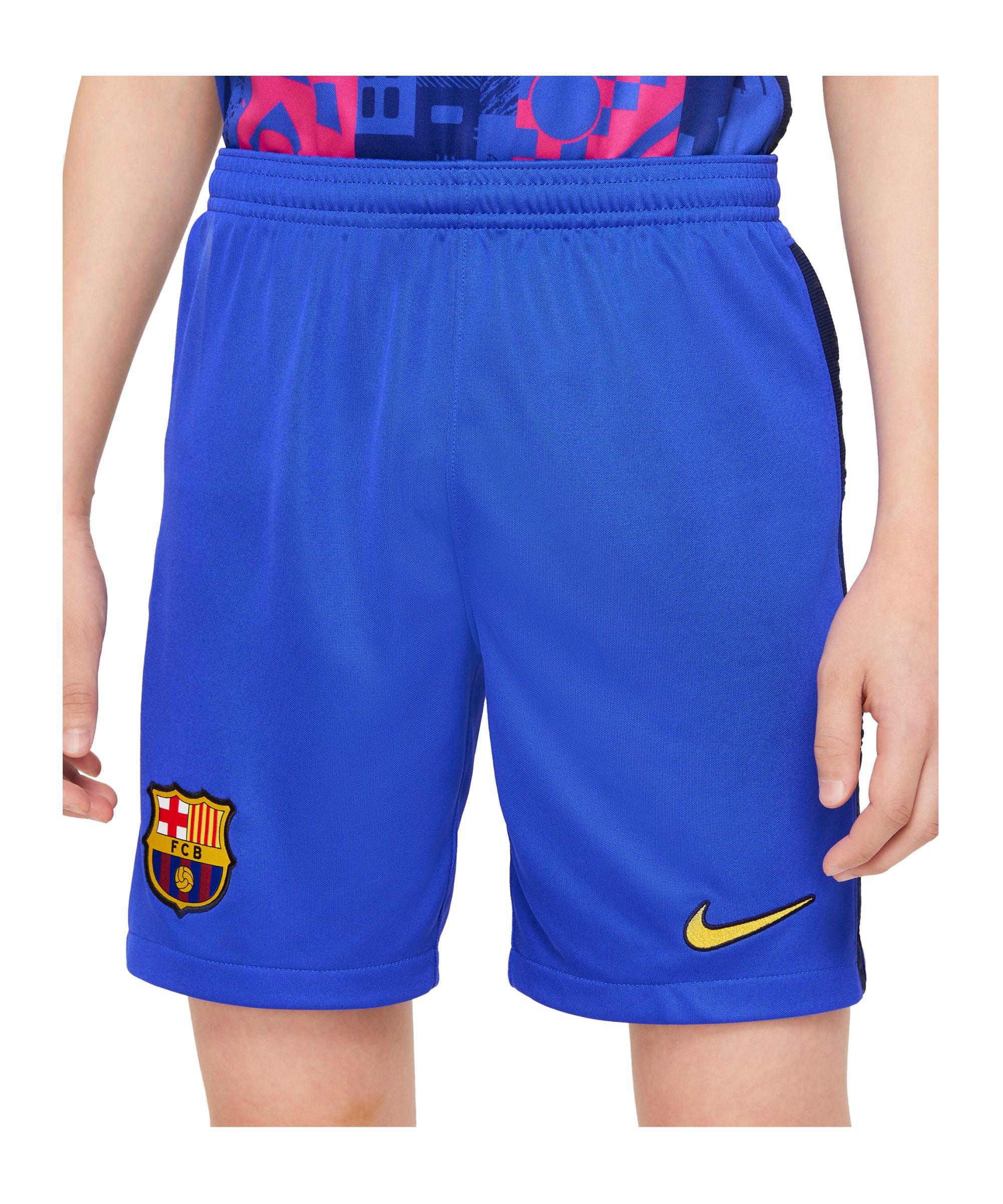 Nike FC Barcelona Short UCL 2021/2022 Kids F405 - blau