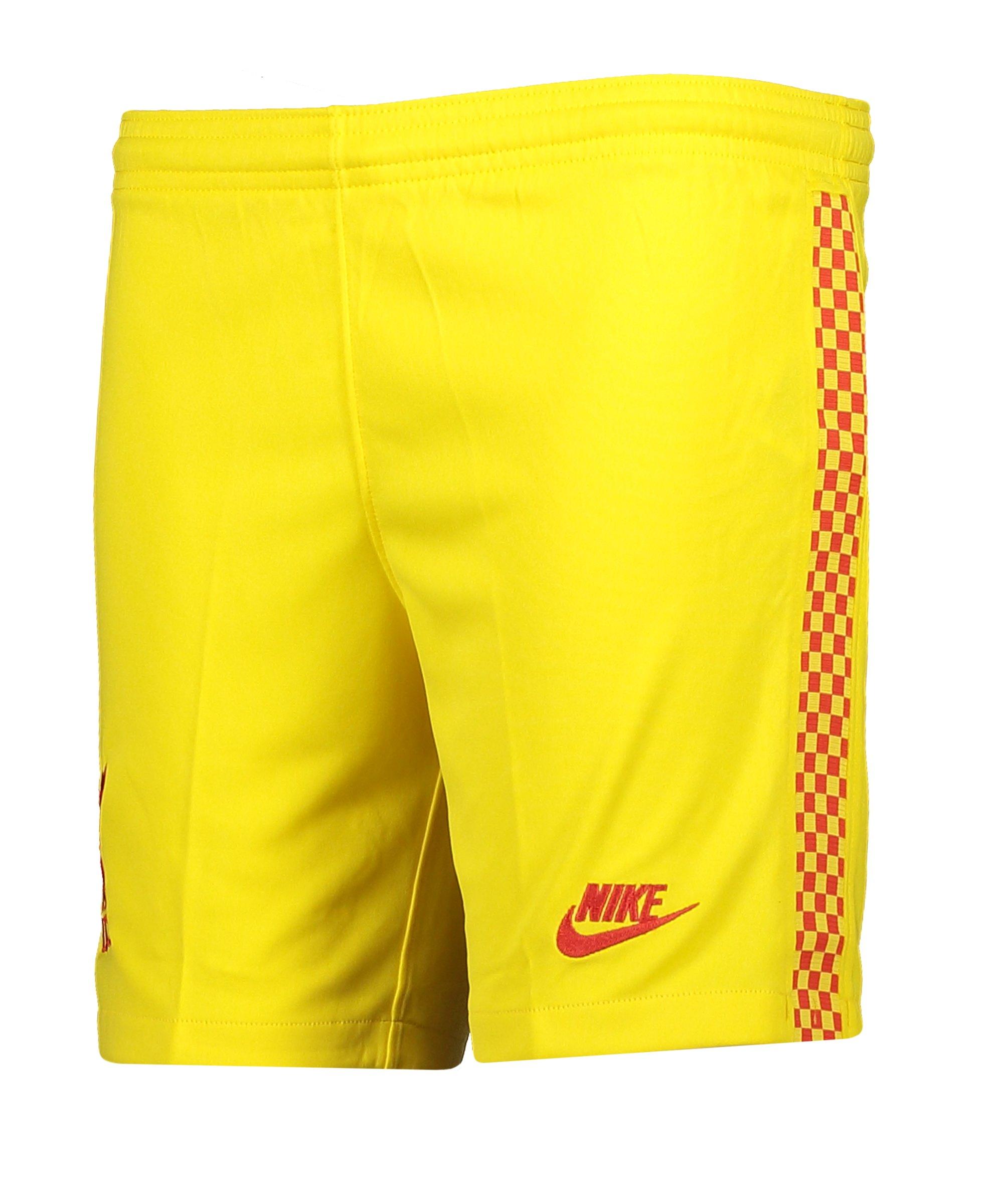 Nike FC Liverpool Short 3rd 21/22 Kids Gelb F703 - gelb