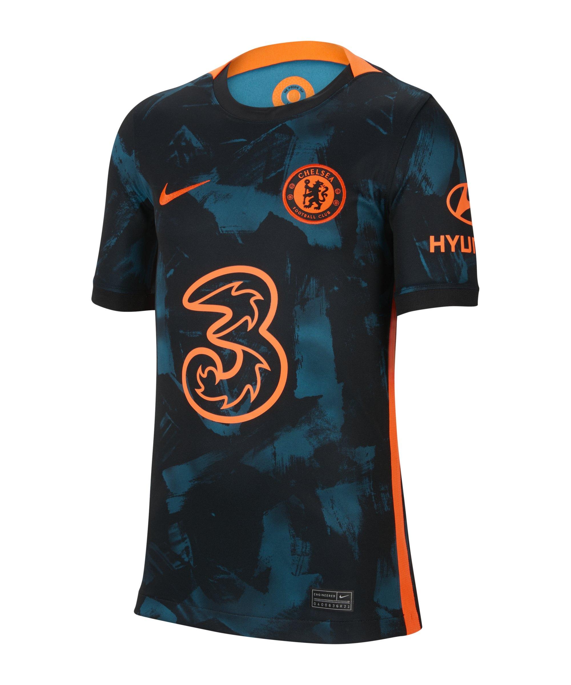 Nike FC Chelsea London Trikot UCL 2021/2022 Kids F468 - blau