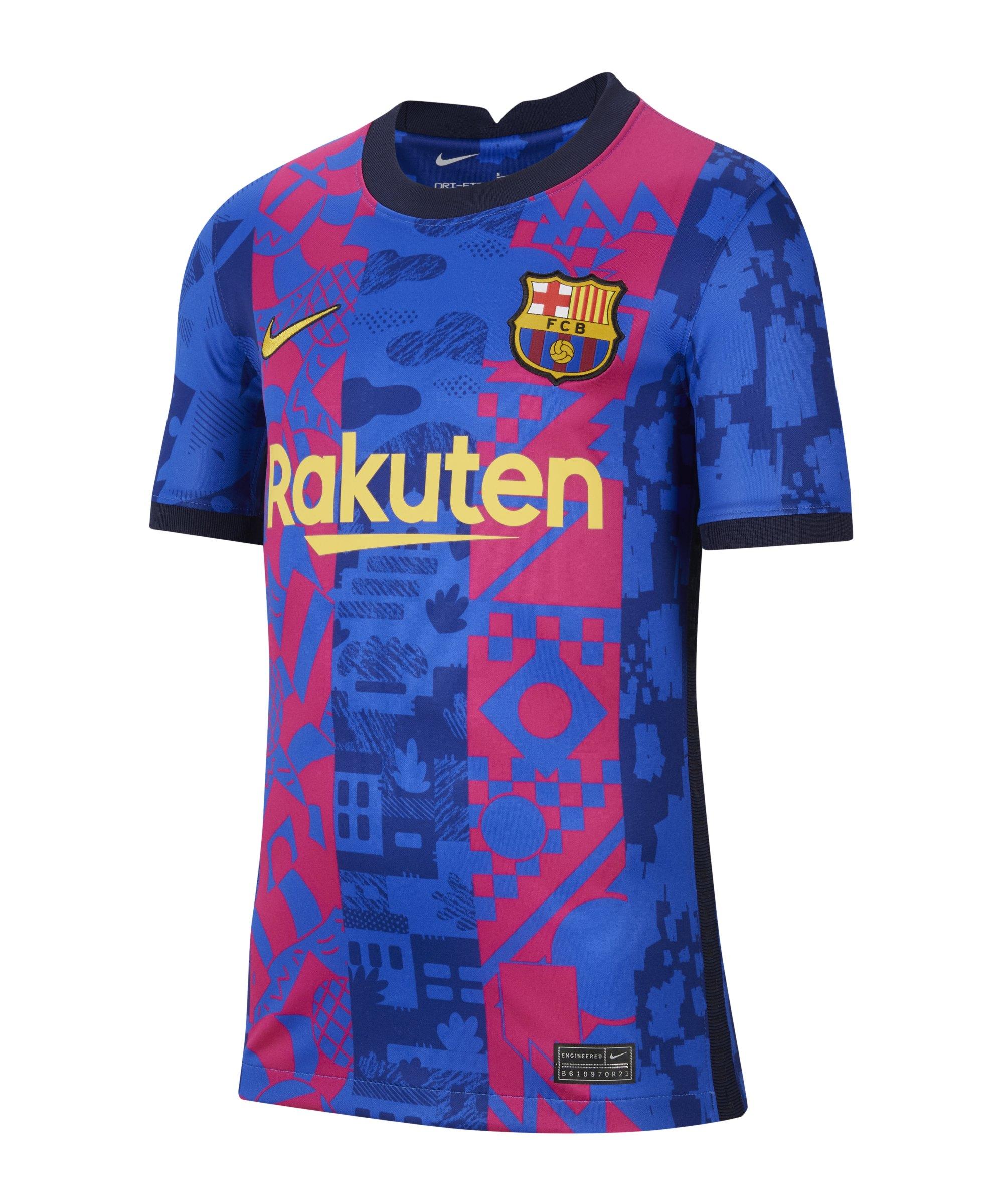 Nike FC Barcelona Trikot UCL 2021/2022 Kids F406 - blau