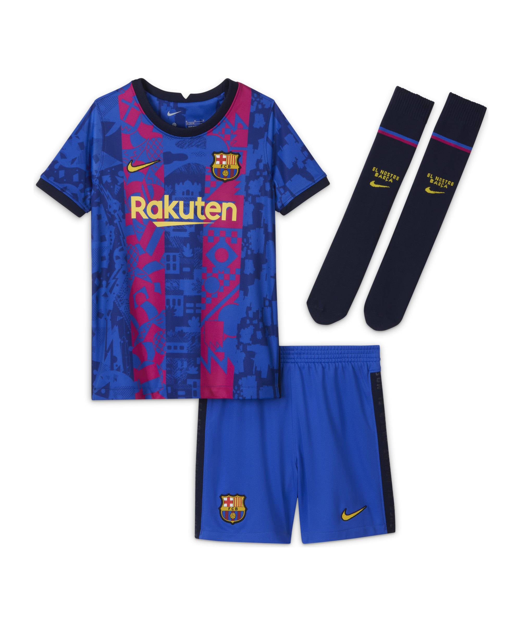 Nike FC Barcelona Minikit UCL 2021/2022 Blau F406 - blau
