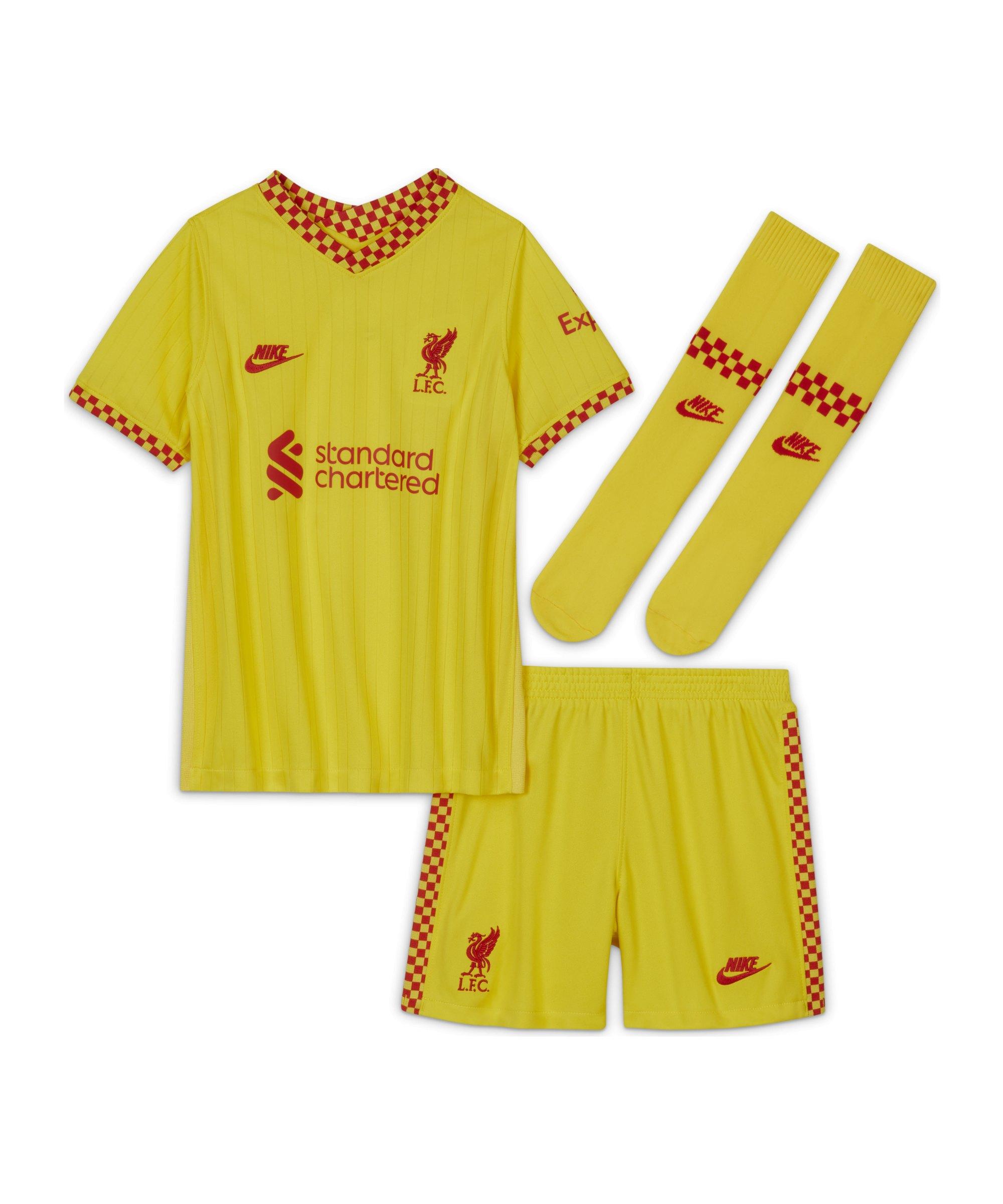 Nike FC Liverpool Minikit 3rd 2021/2022 Gelb F704 - gelb