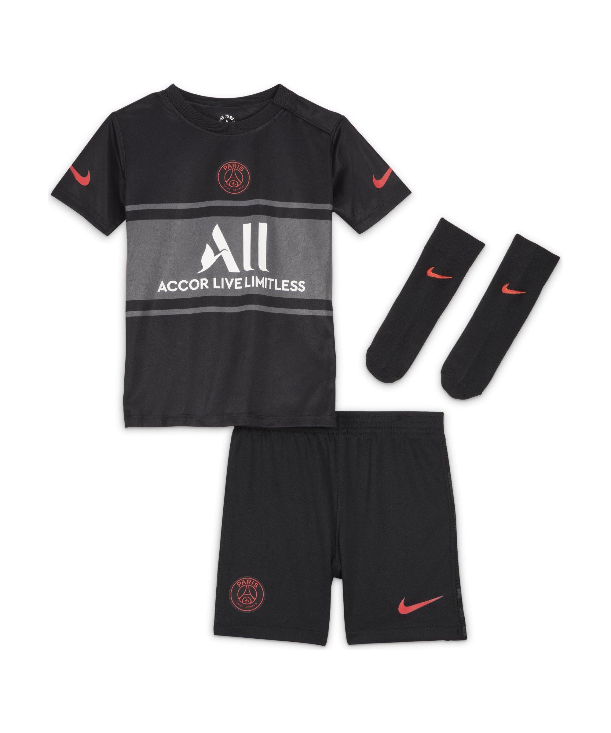 Nike Paris St. Germain Babykit UCL 2021/2022 F011 - schwarz