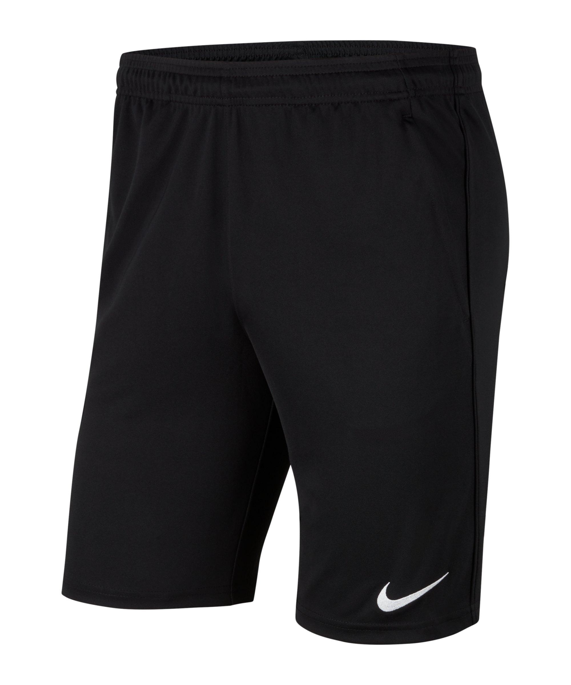 Nike Park 20 Knit Short Kids Schwarz Weiss F010 - schwarz
