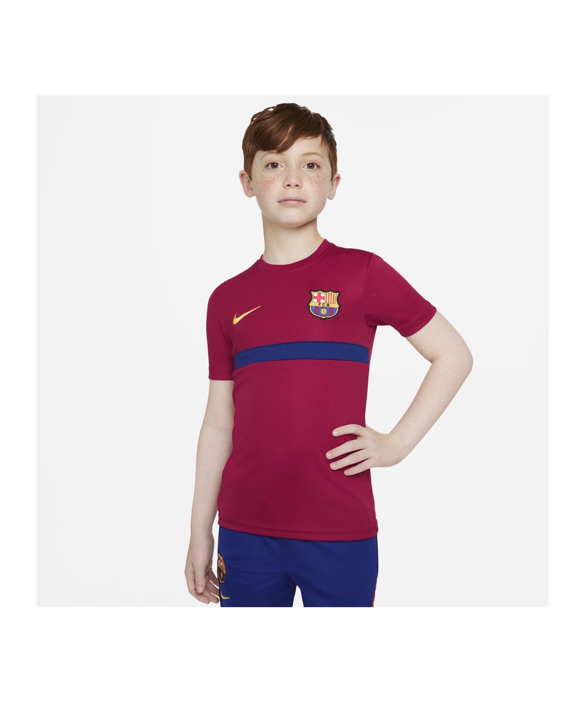 Nike FC Barcelona Trainingsshirt Kids Rot F624 - rot