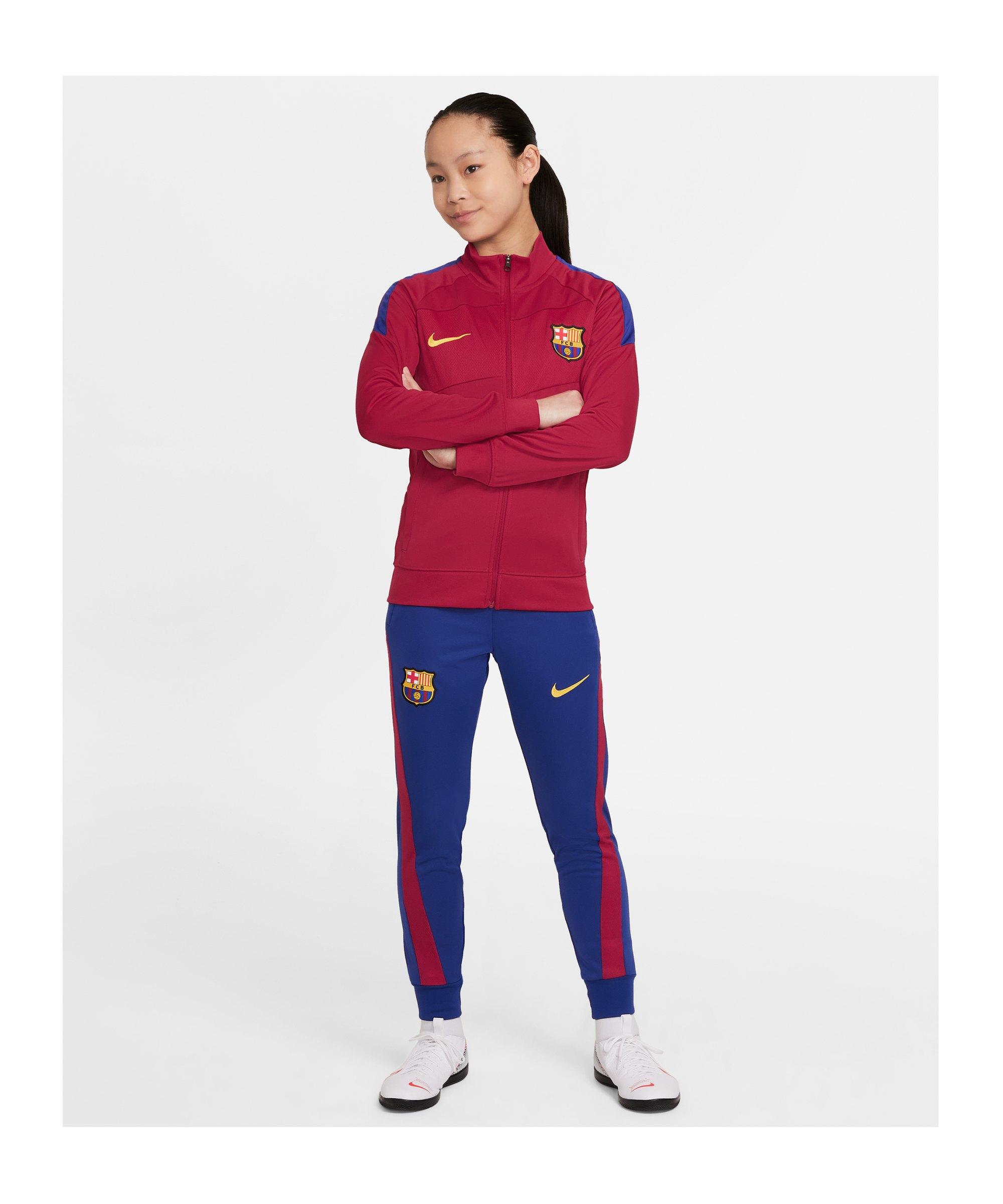 Nike FC Barcelona Trainingsanzug Kids Rot F624 - rot