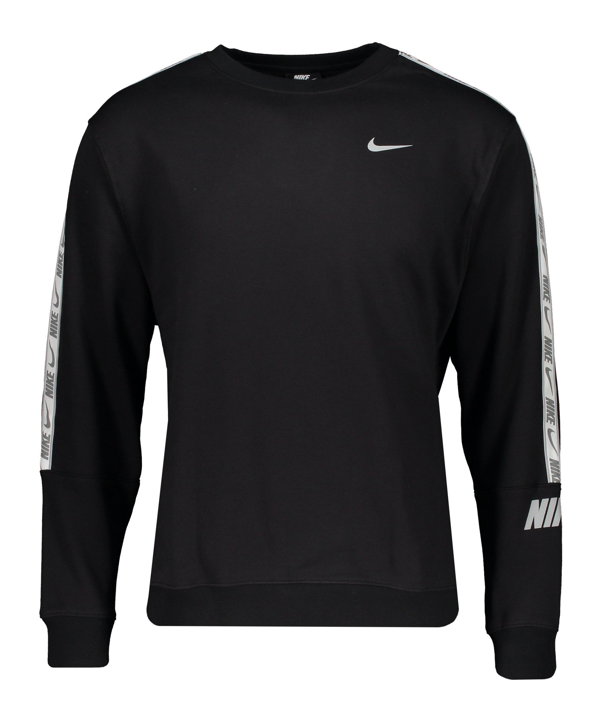 Nike Repeat Fleece Crew Sweatshirt Schwarz F010 - schwarz