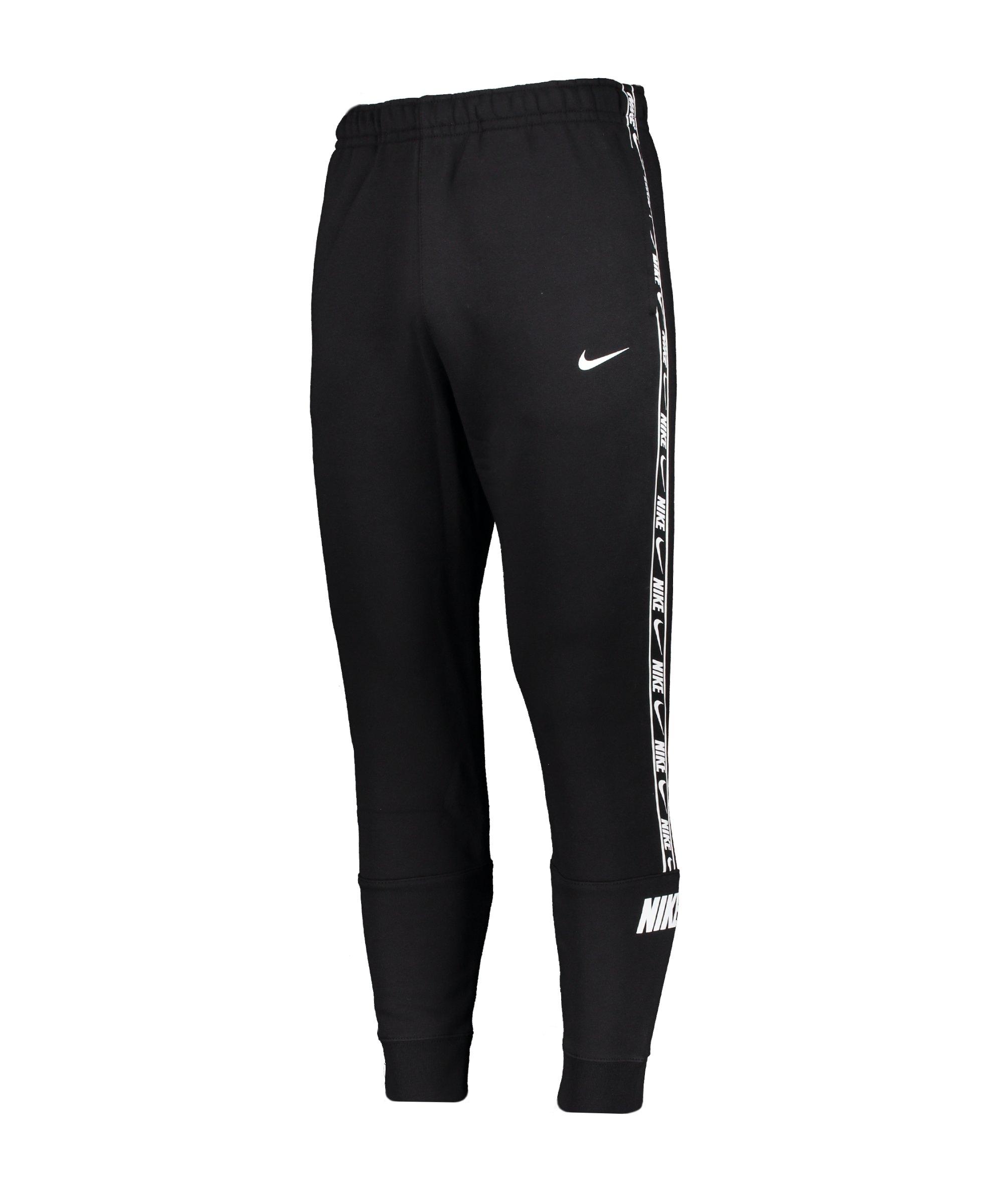 Nike Repeat Fleece Jogginghose Schwarz F011 - schwarz