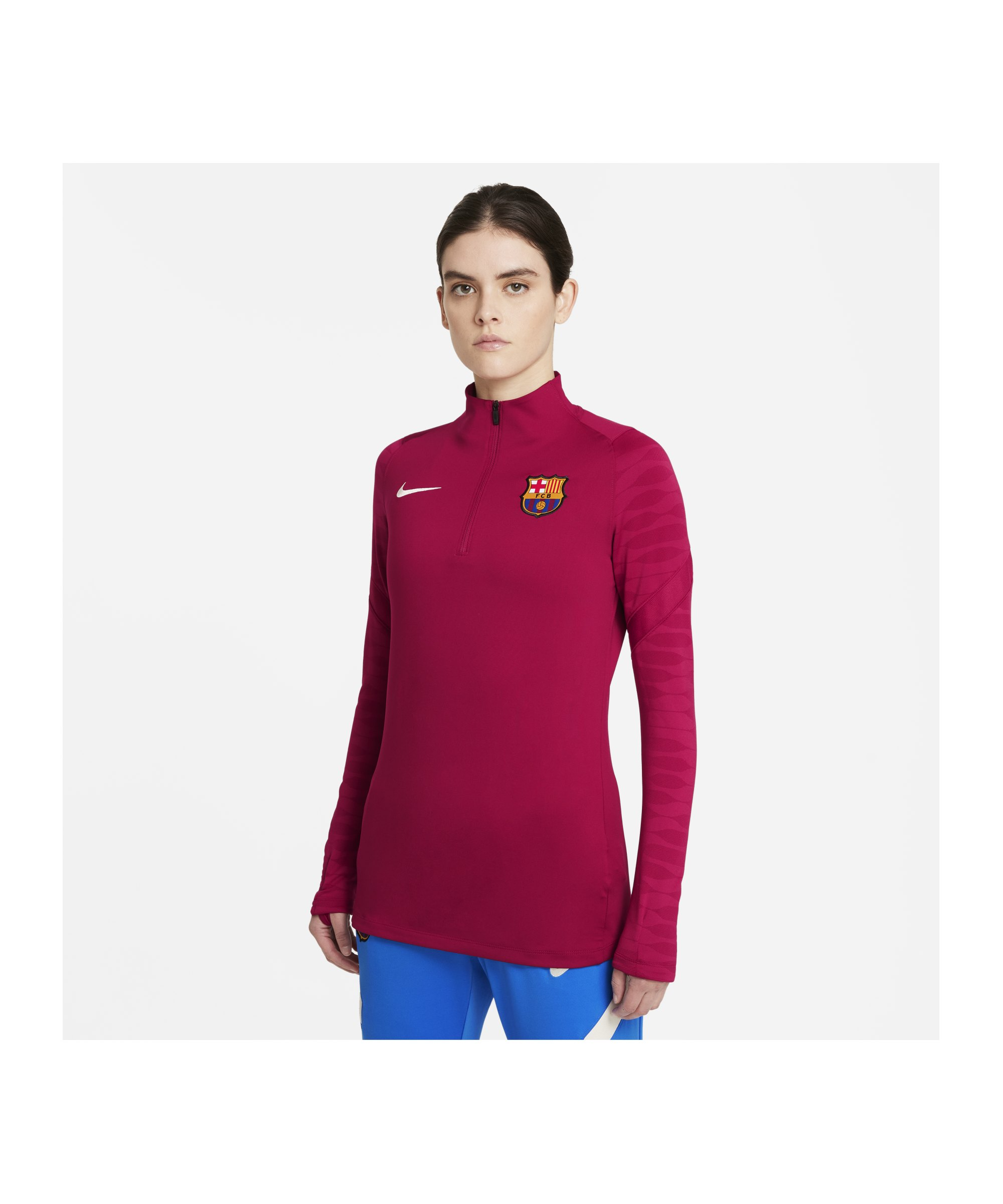 Nike FC Barcelona Strike Drill Top Damen Rot F621 - rot