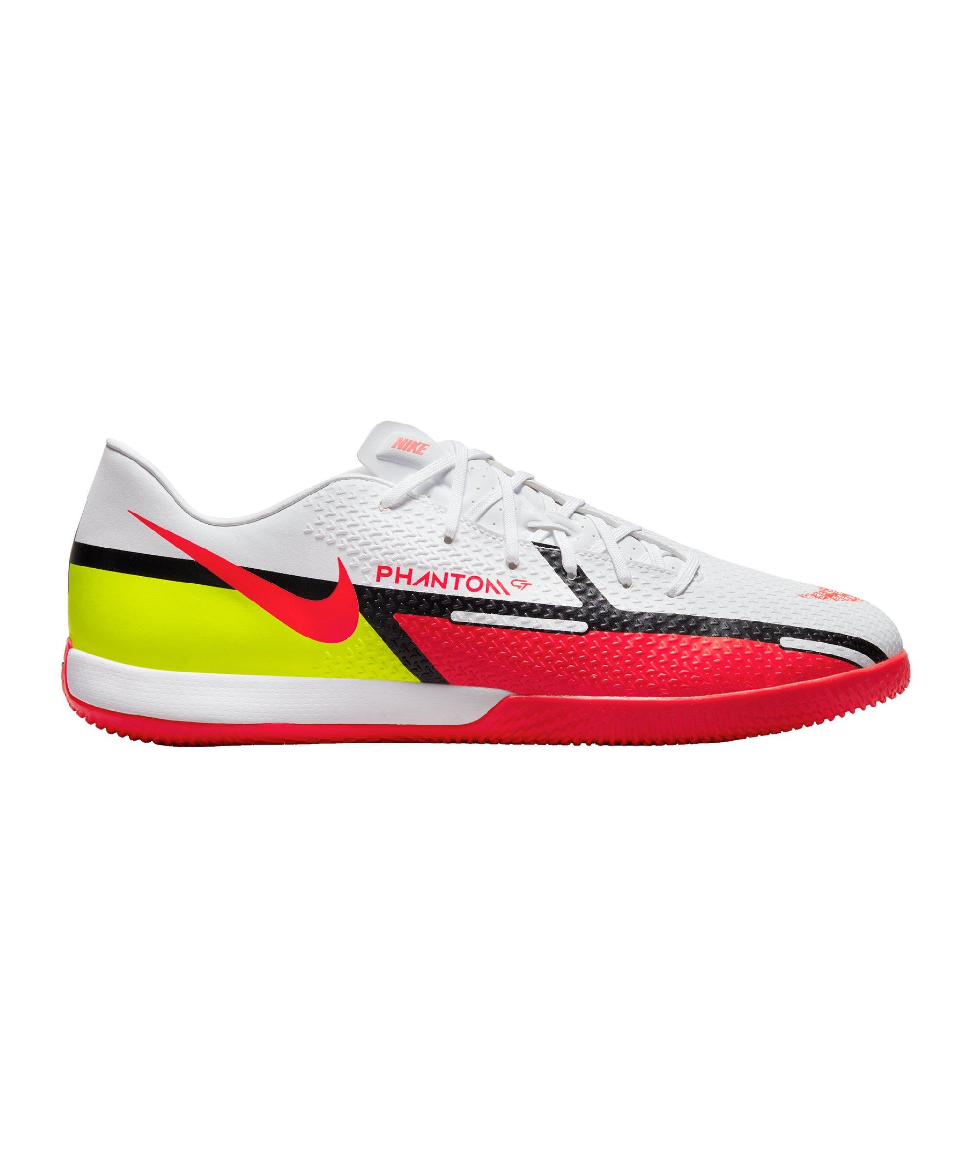 Nike Phantom GT2 Motivation Academy IC Halle Weiss Rot F167 - weiss