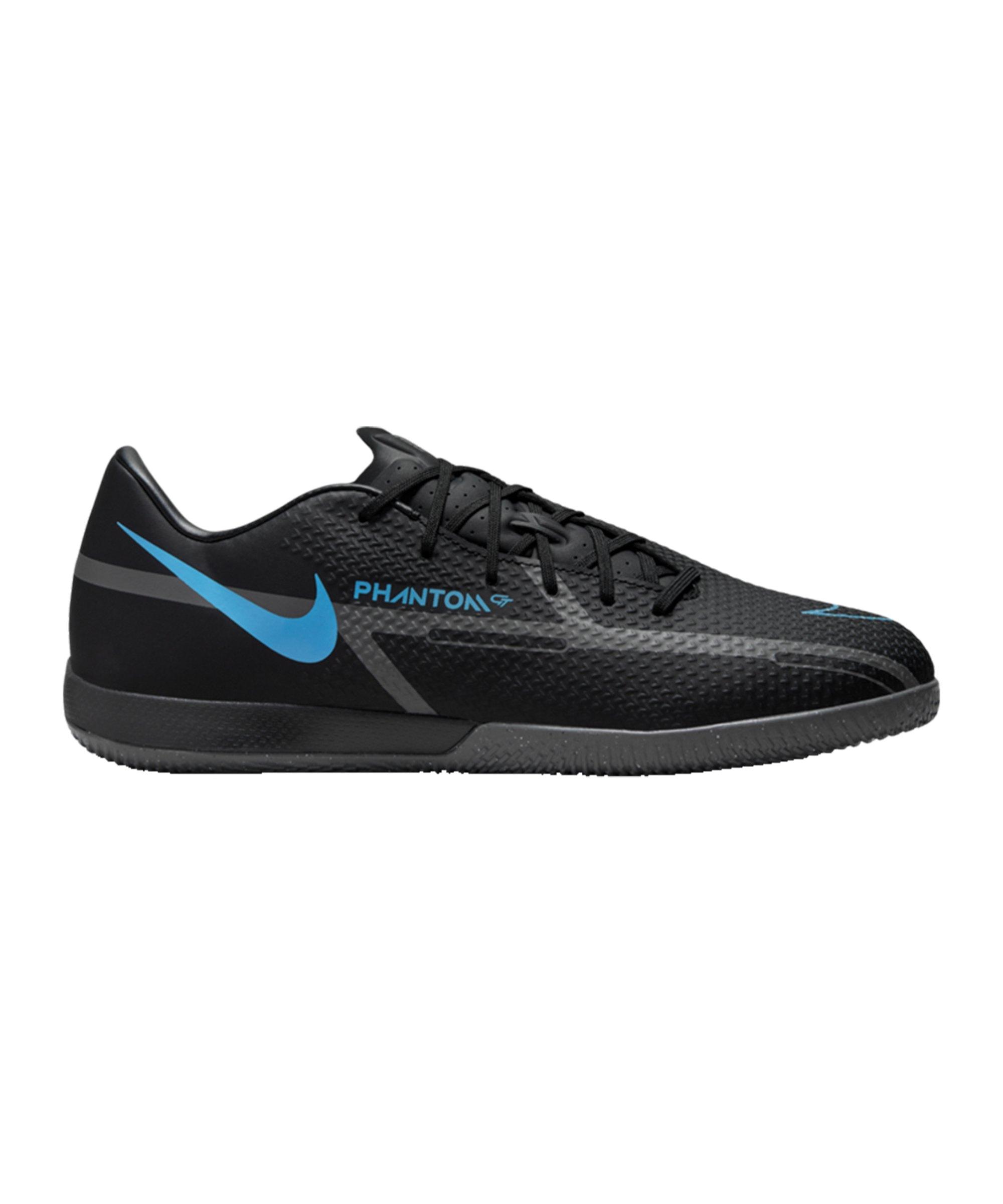 Nike Phantom GT2 Renew Academy IC Halle Schwarz Blau F004 - schwarz