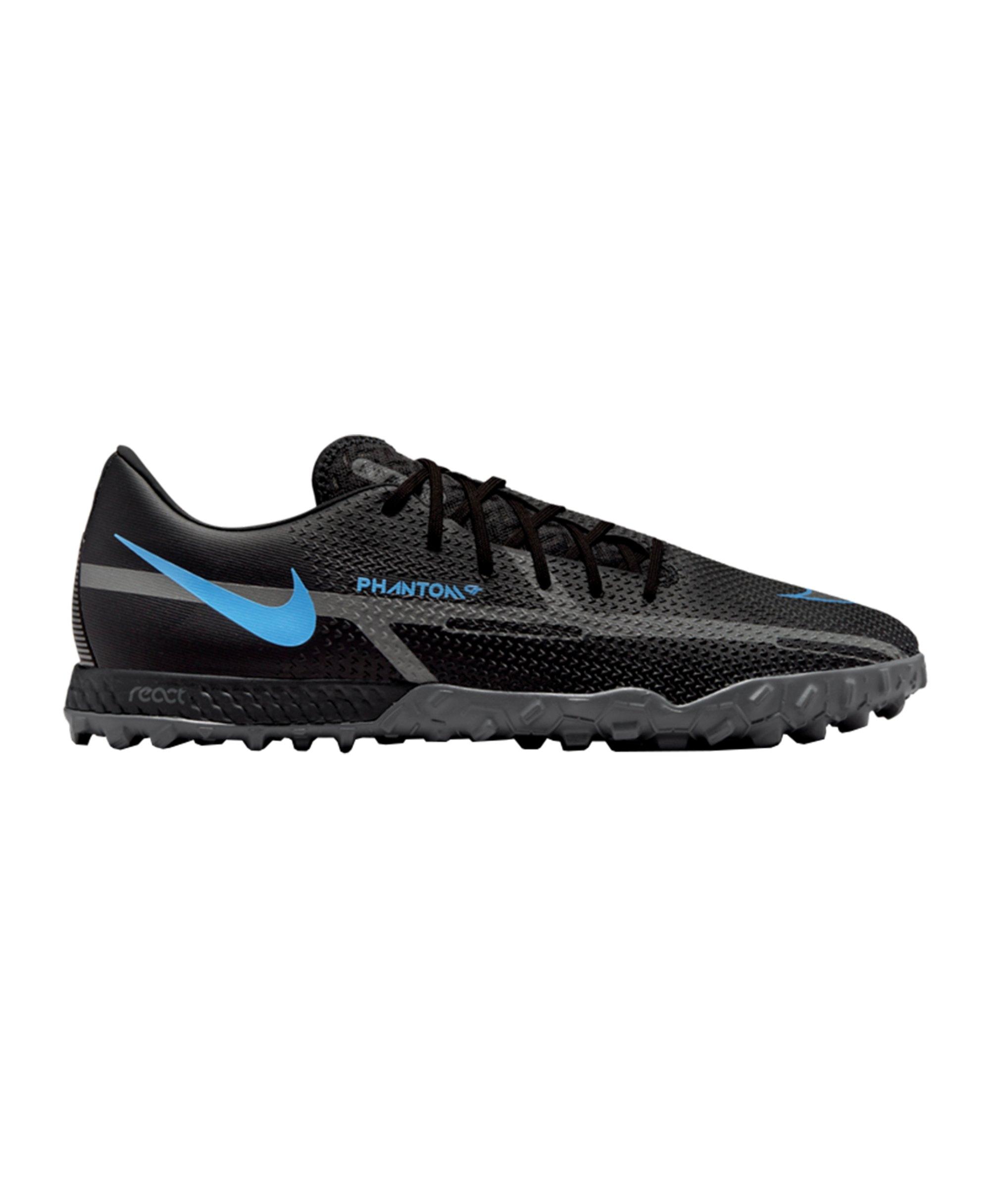 Nike React Phantom GT2 Renew Pro TF Schwarz Blau F004 - schwarz
