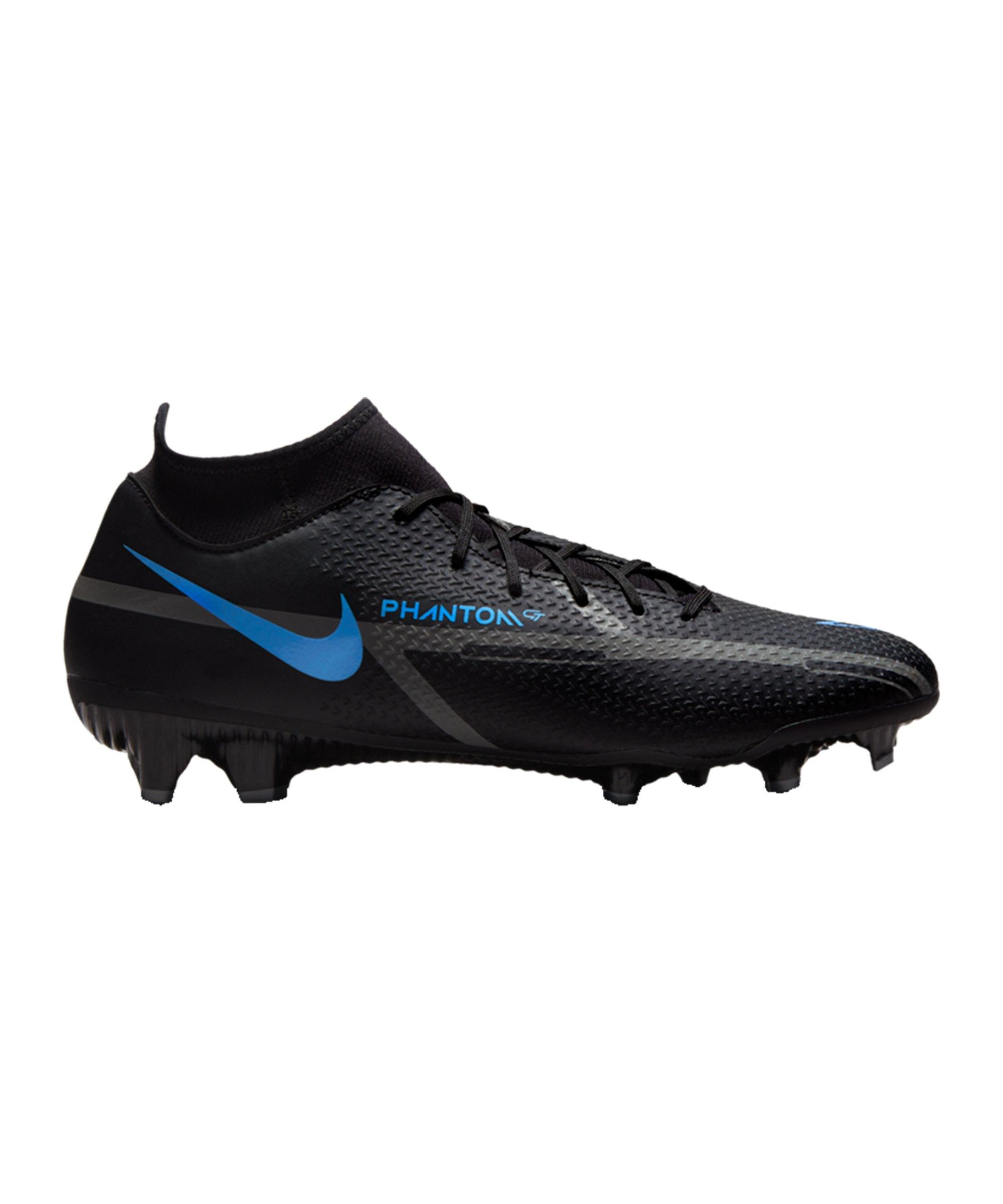 Nike Phantom GT2 Renew Academy DF FG/MG Schwarz Blau F004 - schwarz