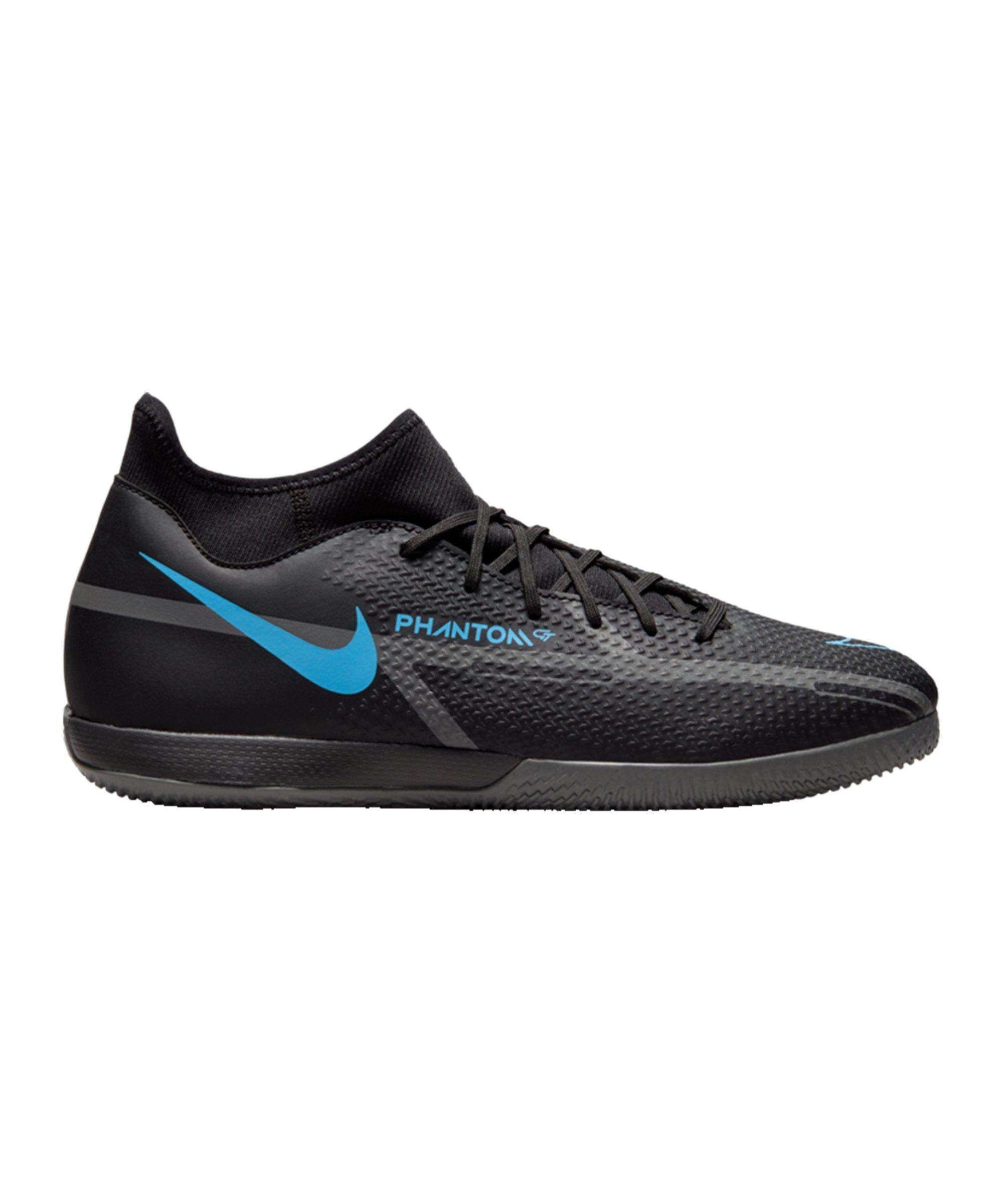 Nike Phantom GT2 Renew Academy DF IC Halle Schwarz Blau F004 - schwarz
