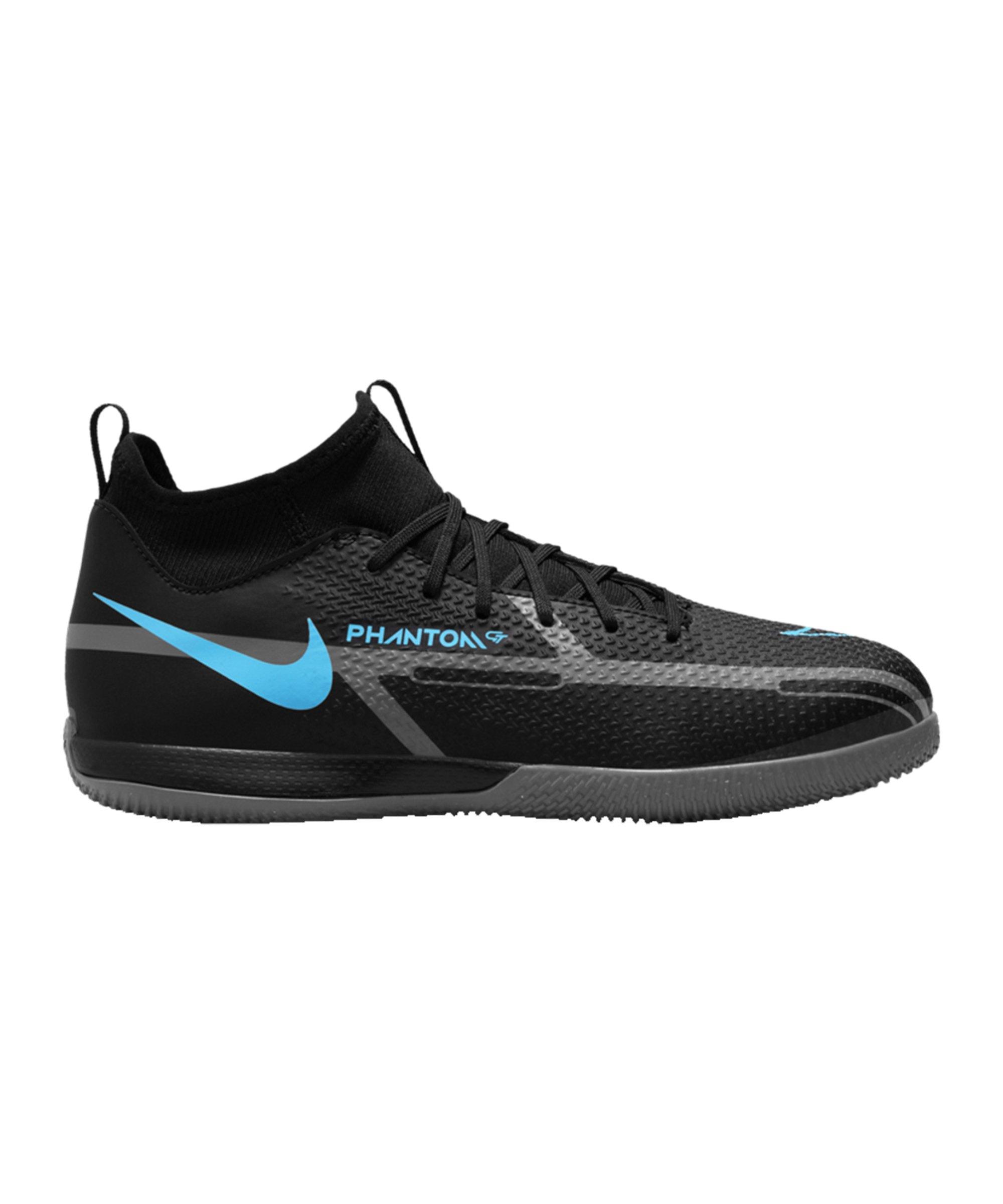Nike Jr Phantom GT2 Renew Academy DF IC Halle Kids Schwarz Blau F004 - schwarz