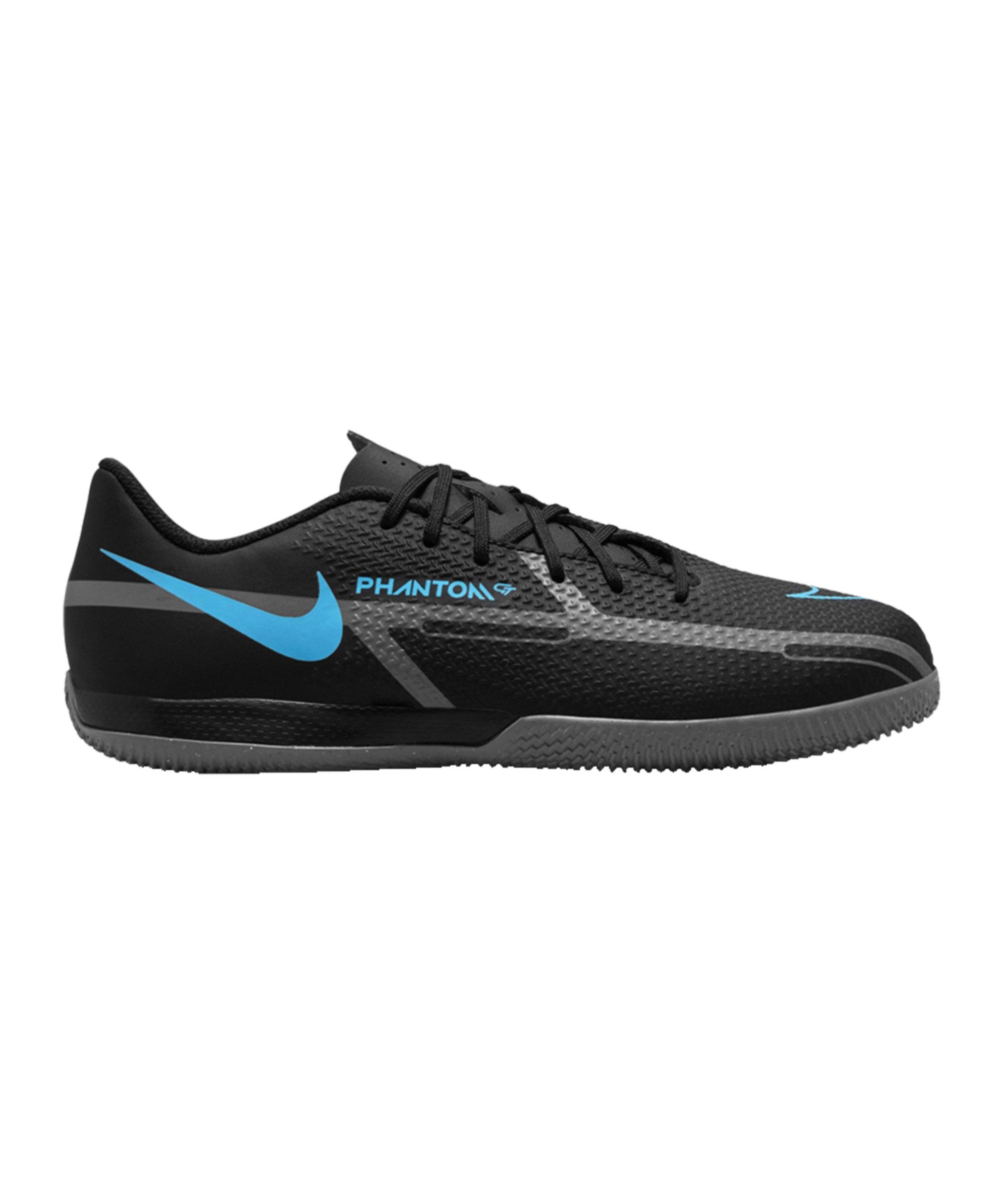 Nike Jr Phantom GT2 Renew Academy IC Halle Kids Schwarz Blau F004 - schwarz