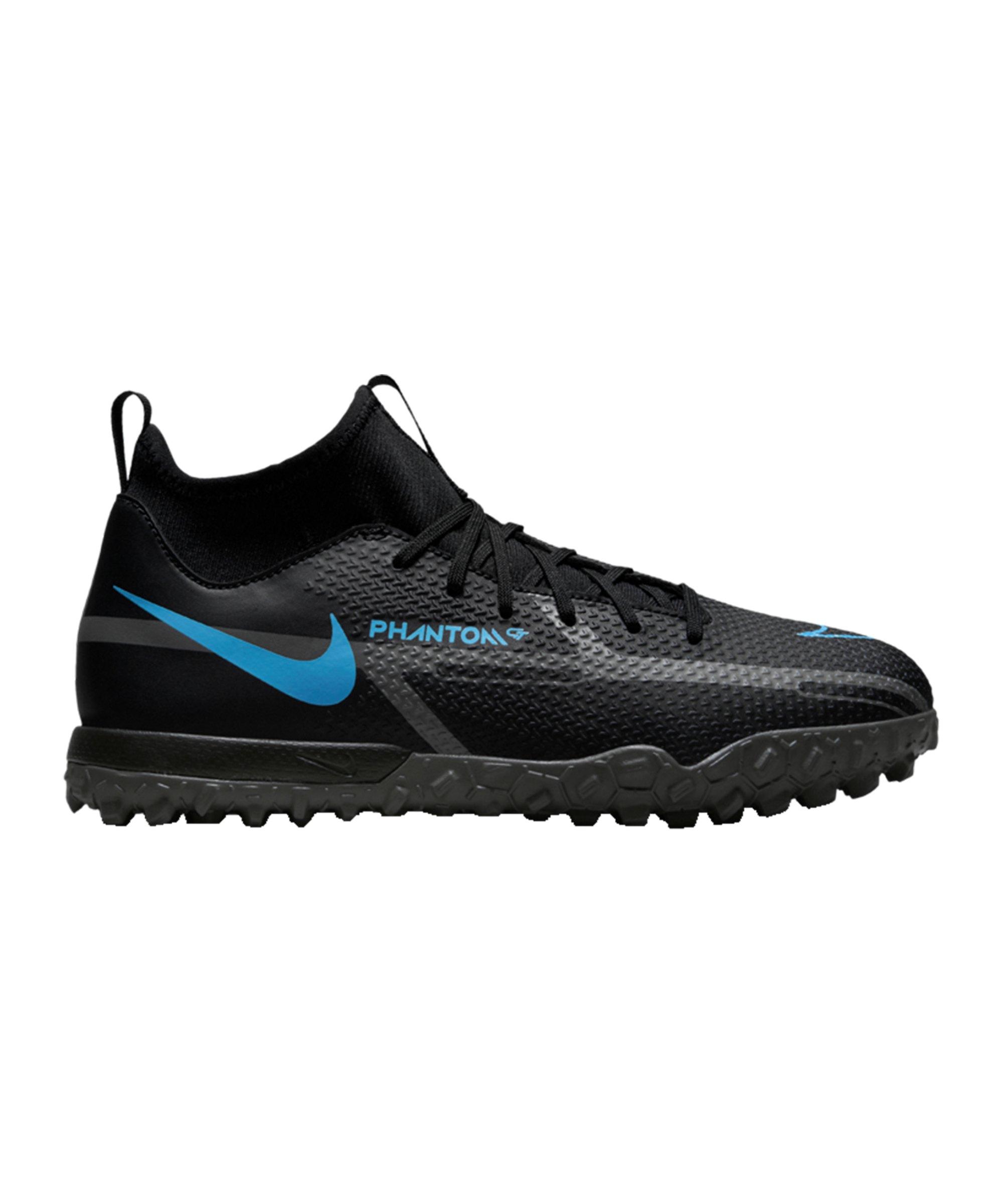 Nike Jr Phantom GT2 Renew Academy DF TF Kids Schwarz Blau F004 - schwarz