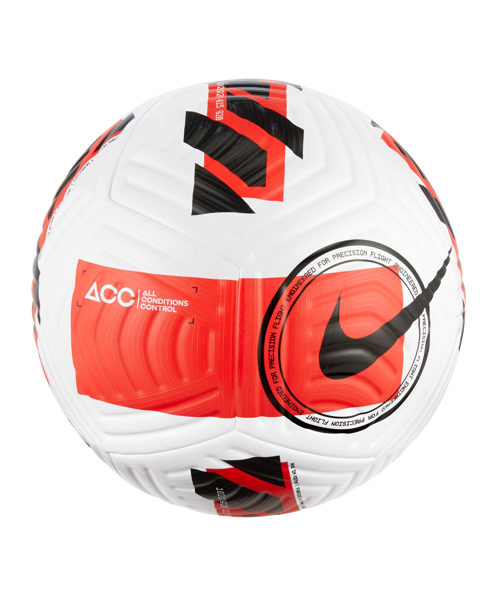 Nike Flight Spielball Weiss Rot Schwarz F100 - weiss