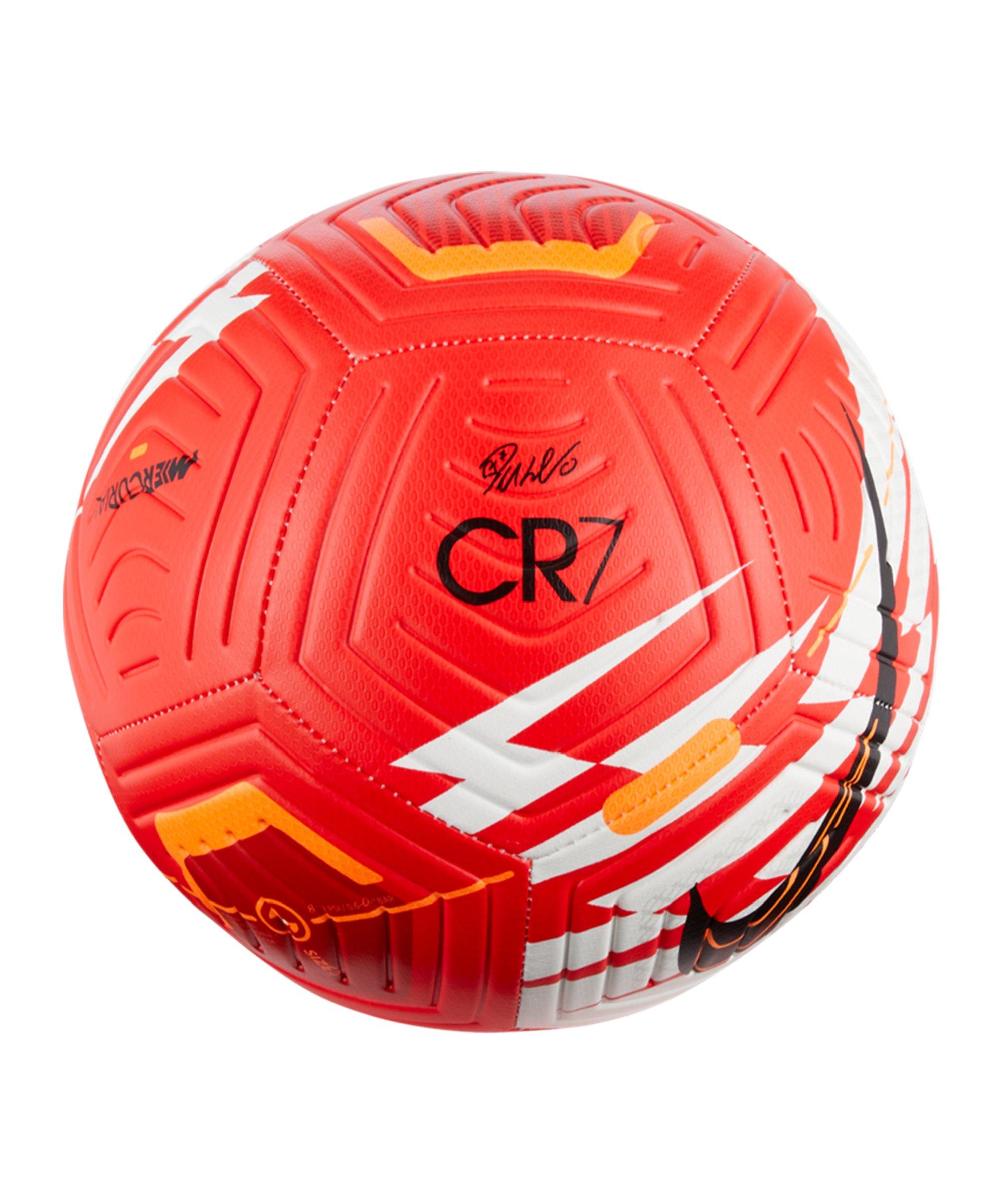 Nike Strike CR7 Fussball Rot Orange Schwarz F635 - rot