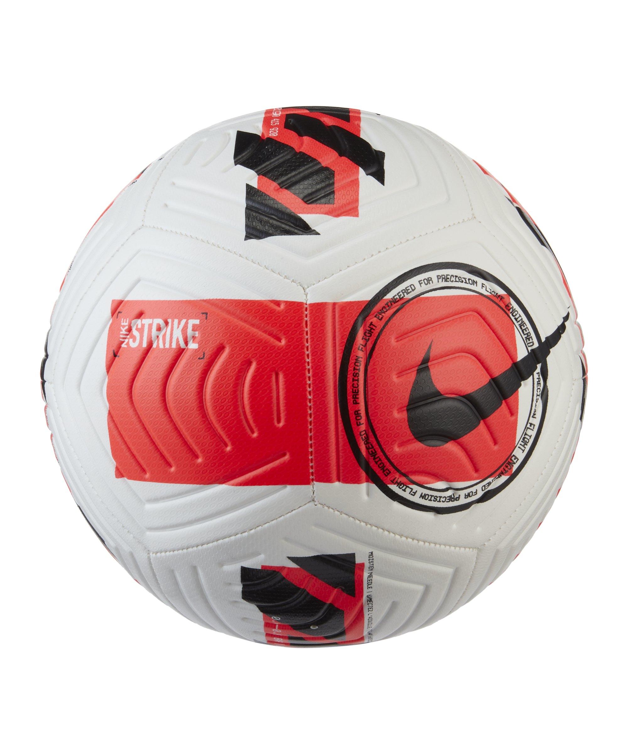 Nike Strike Trainingsball Weiss Rot Schwarz F100 - weiss