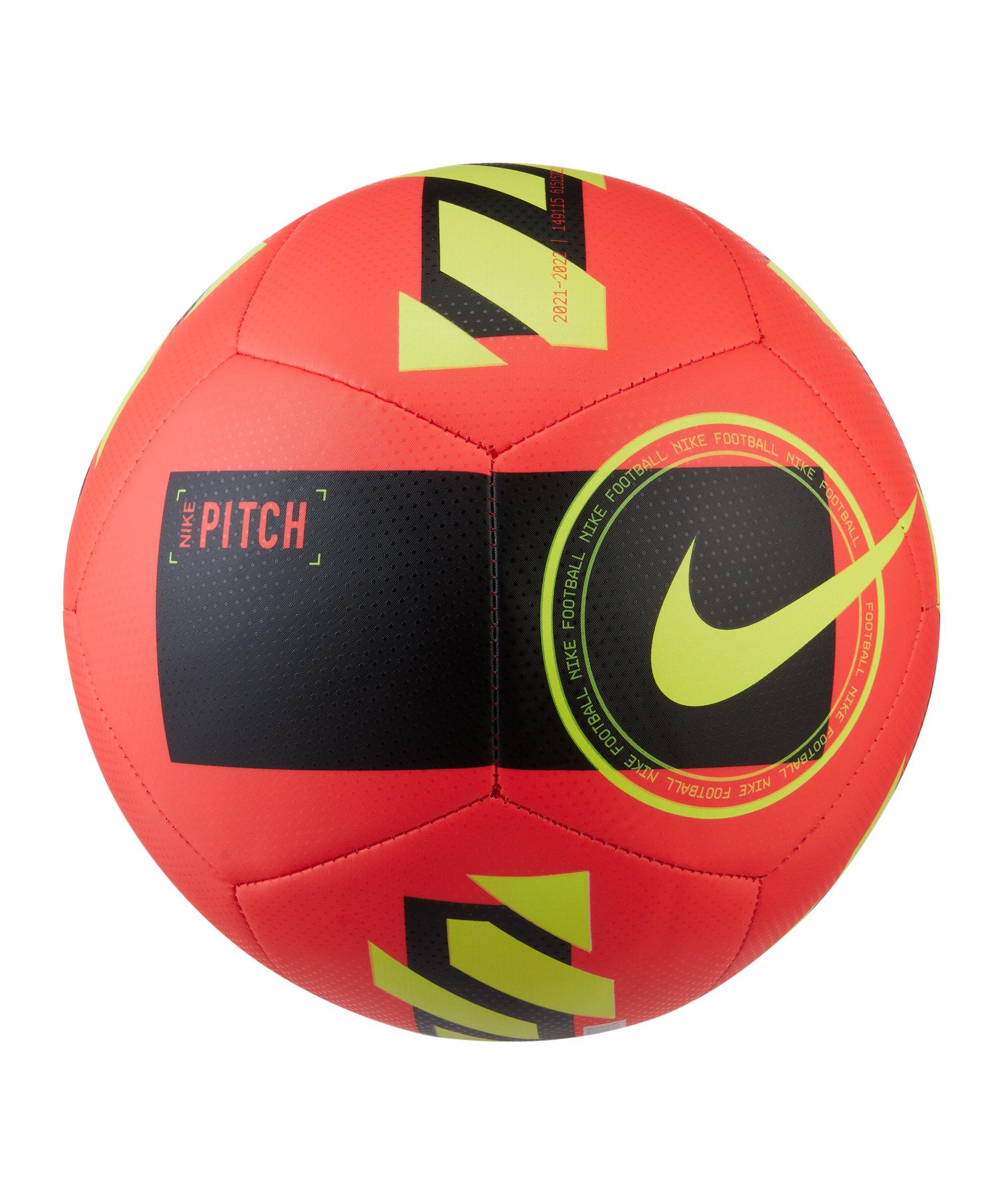 Nike Pitch Fussball Rot Schwarz Gelb F635 - rot