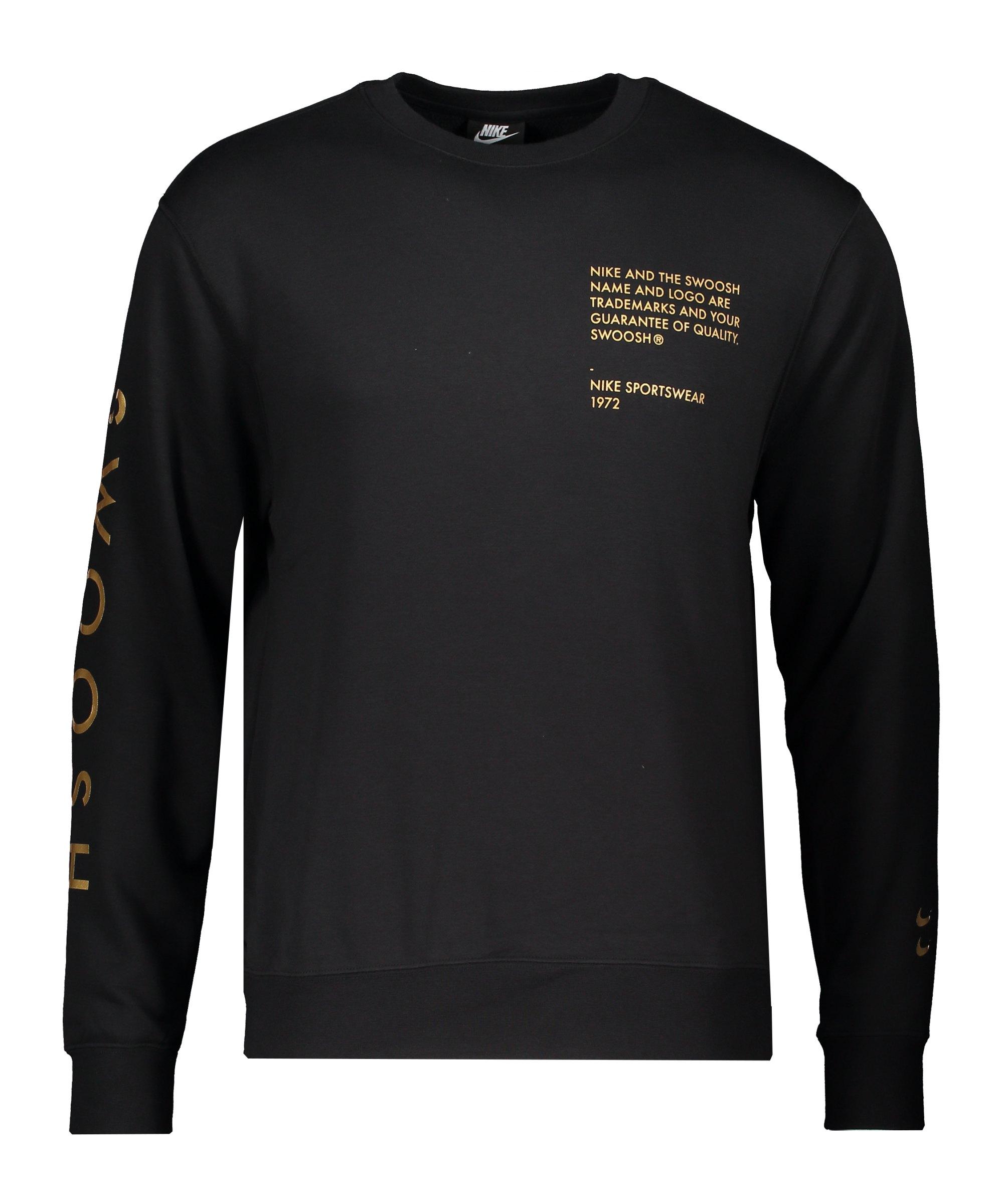 Nike Swoosh Crew Sweatshirt Schwarz F010 - schwarz