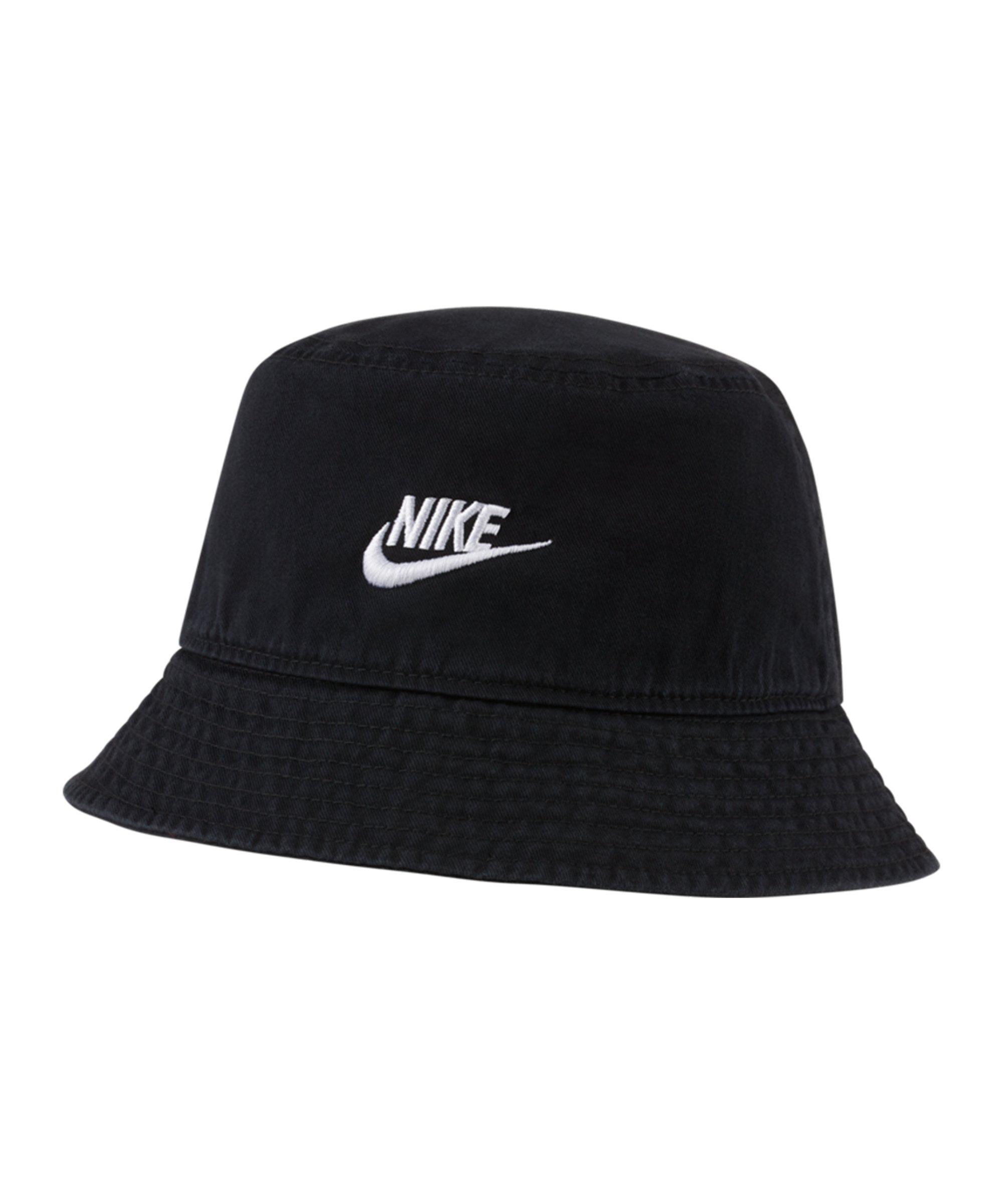 Nike Futura Wash Hut Schwarz Weiss F010 - schwarz